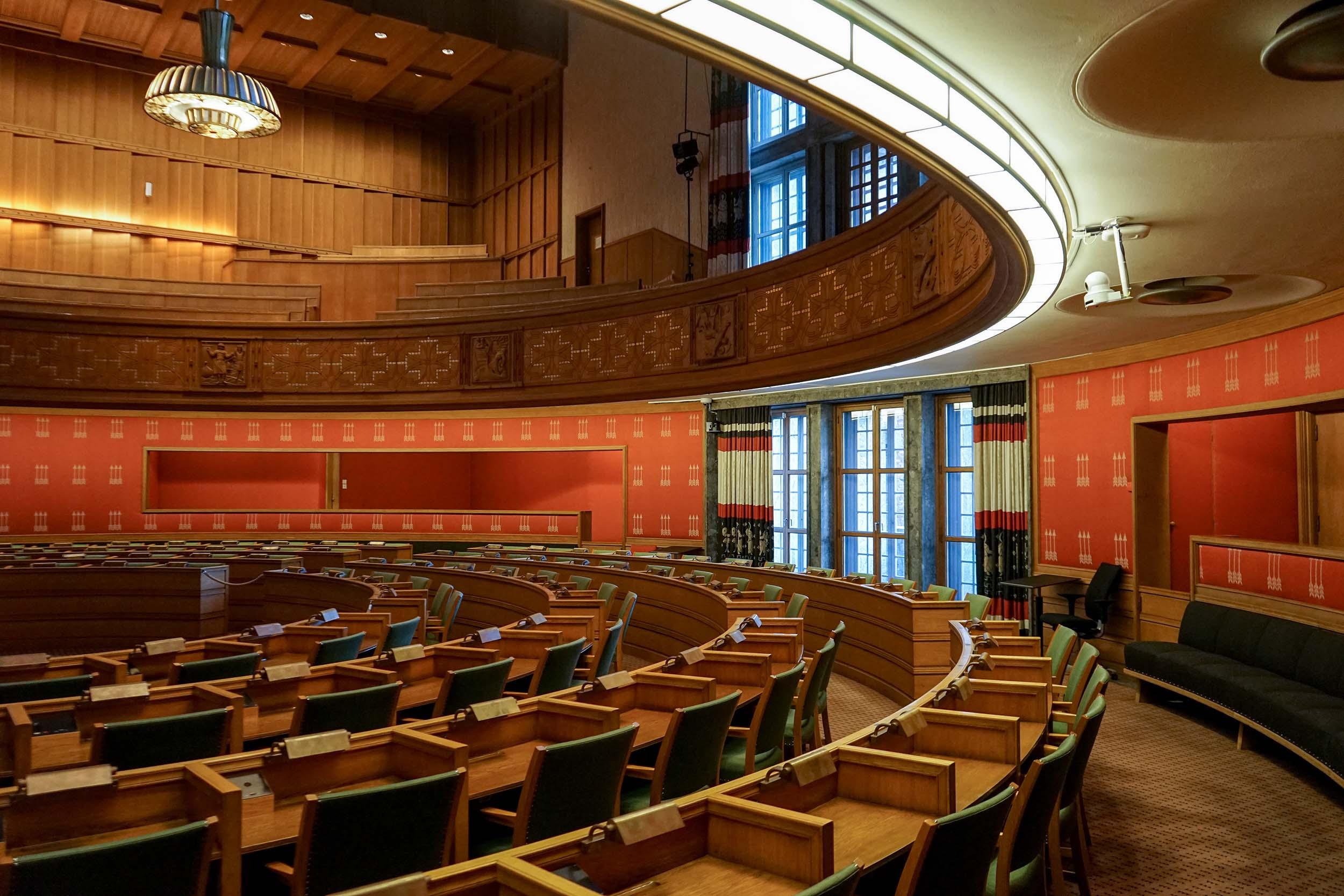 Assembly room中與會議員的位置