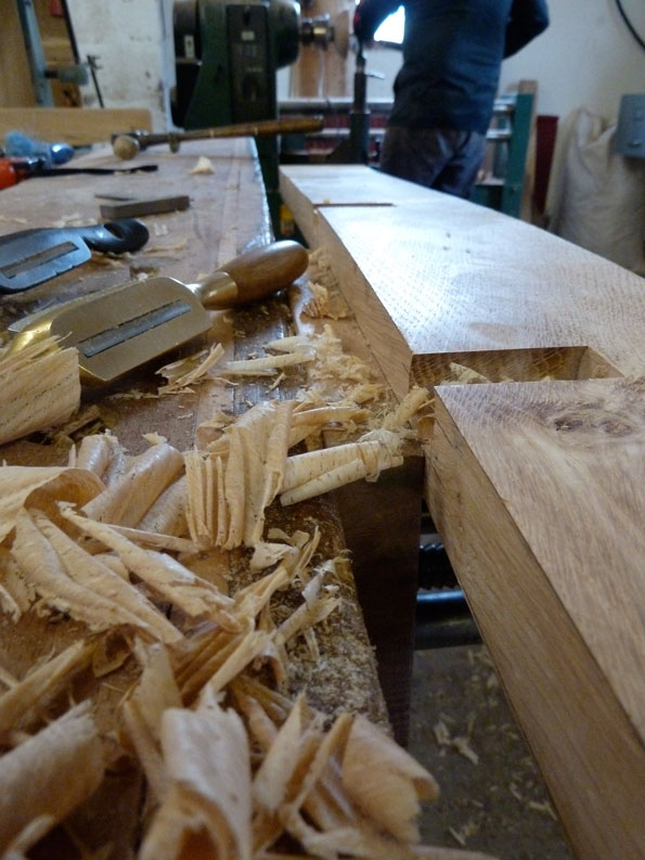 Smoothing out the basic shape of the back rest