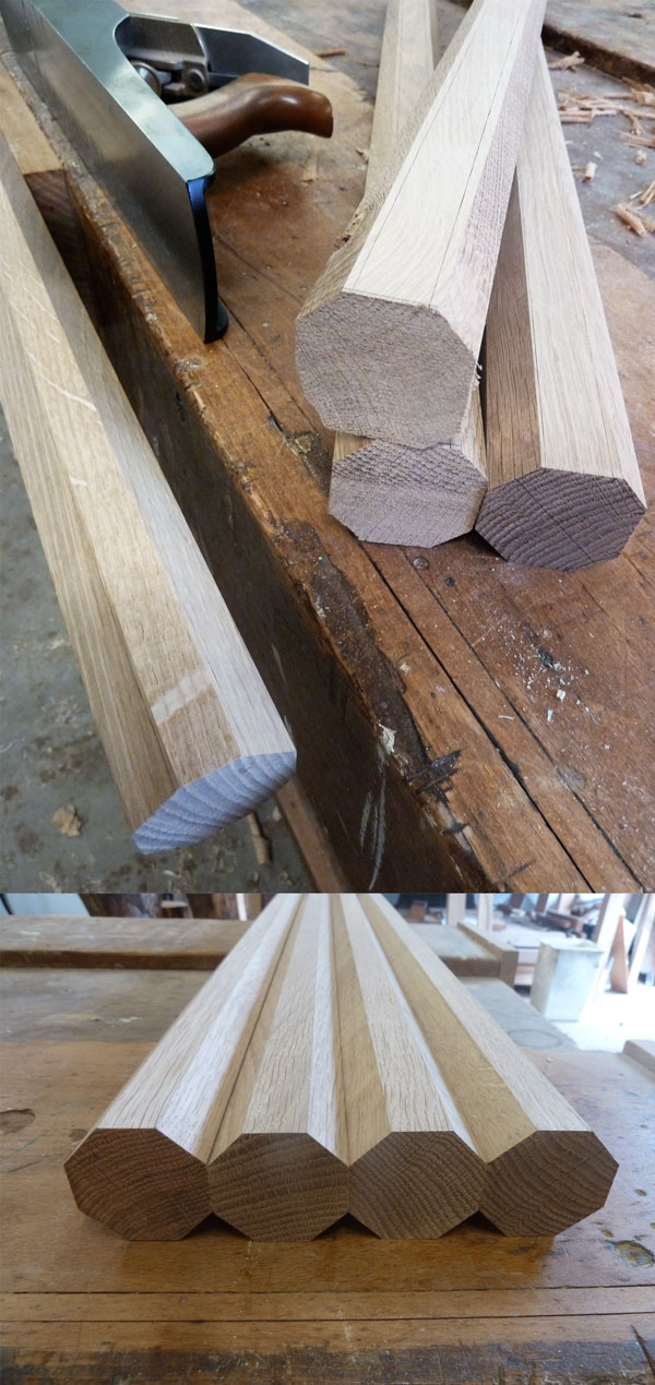 Hand Planing the Octagon Legs
