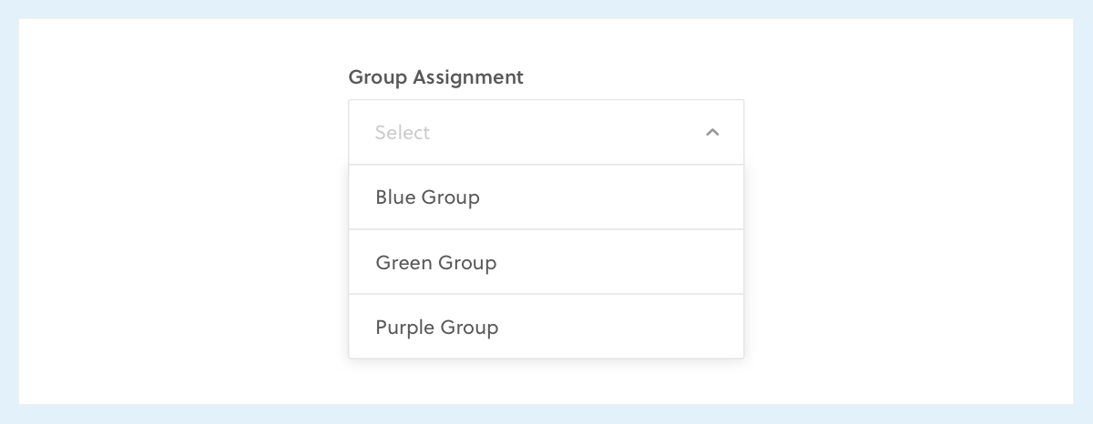 Dropdown Example