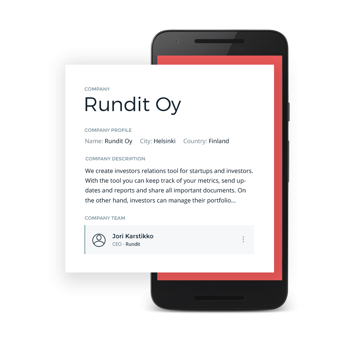 Find the latest Startup data effortlessly - Simply by logging in to Rundit, your company and startup data is visible in a structured and easy to find format. We ensure a clean and concise structure that will make yourself easy to find.