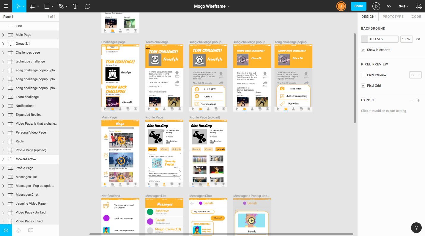 Digital prototyping and interaction testing done using Figma.