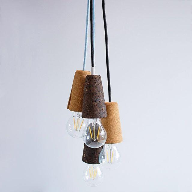 Multilple 'Sininho' pendant lamps, fun-ctionality designed for @galulastudio  #mendesmacedo #mmdesign #mema #designstudio #productdesign #interior #furniture  #lighting #sininho #sininholamp #lamp #chandelier  #cork #design #designers #madeinportugal #galula #porto #portugal