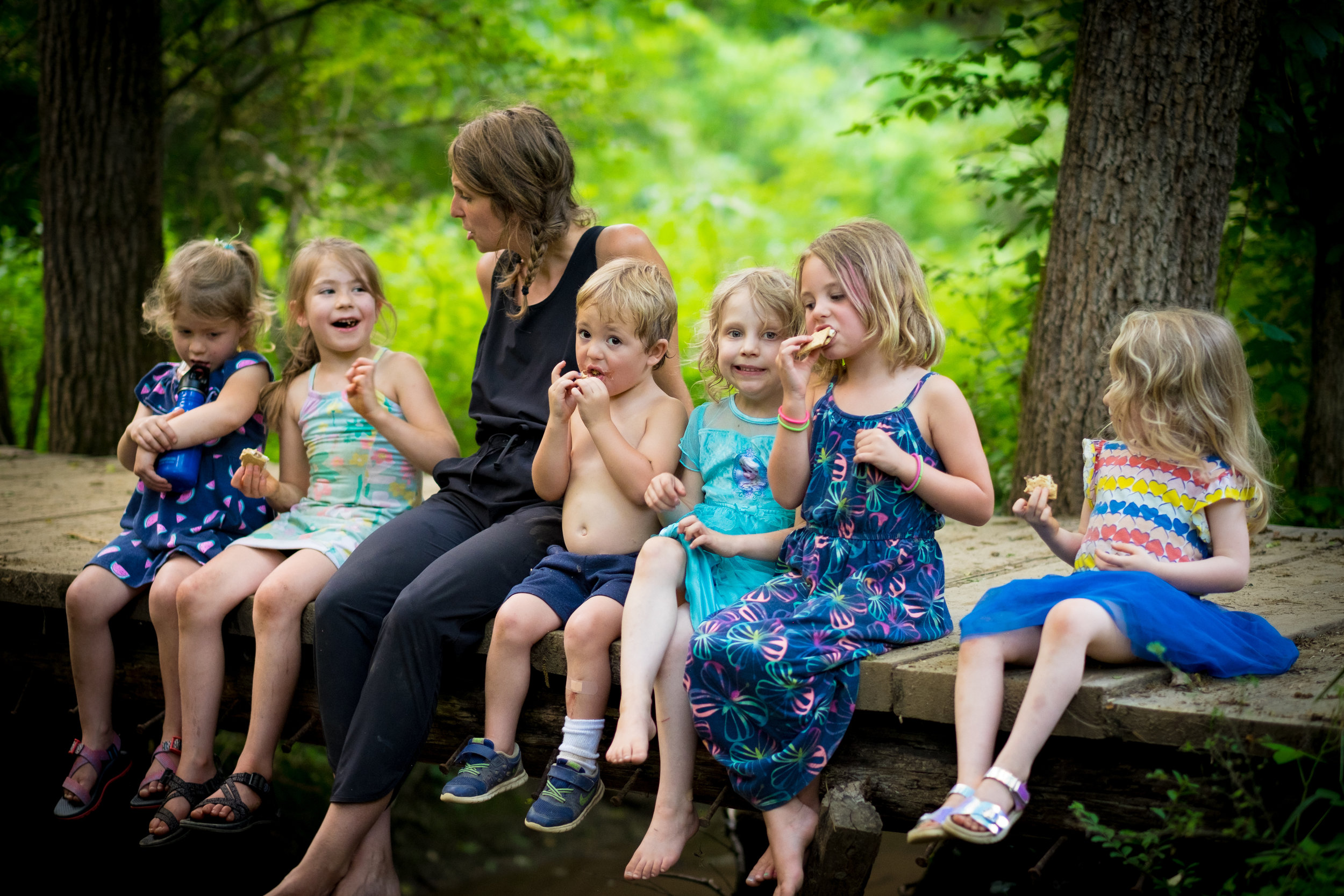 Eating healthy snacks and sharing stories builds wonder and strength. (Photo by David Johnson)
