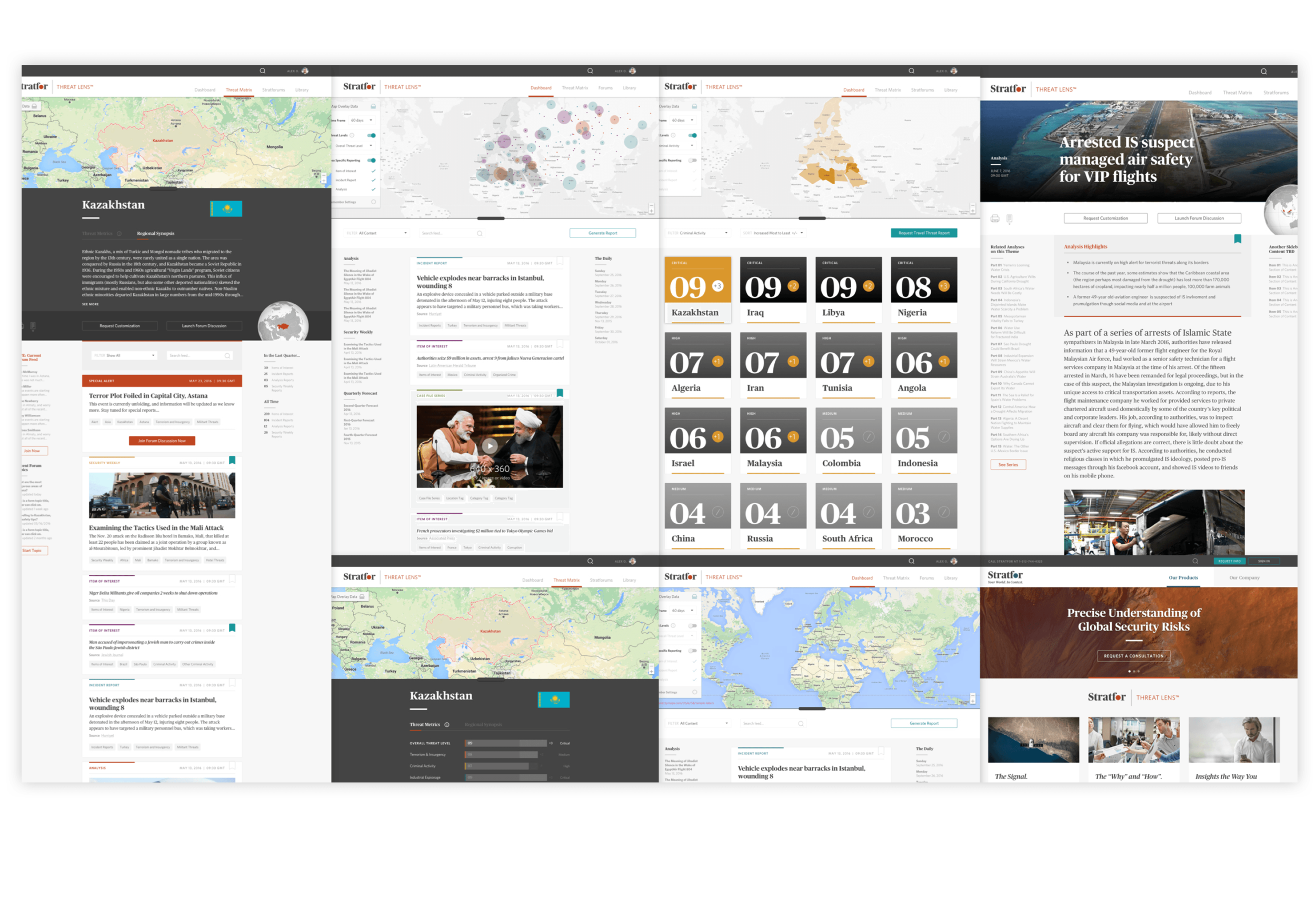 In addition to developing the core WorldView platform, Thinktiv also produced the award-winning ThreatLens product.