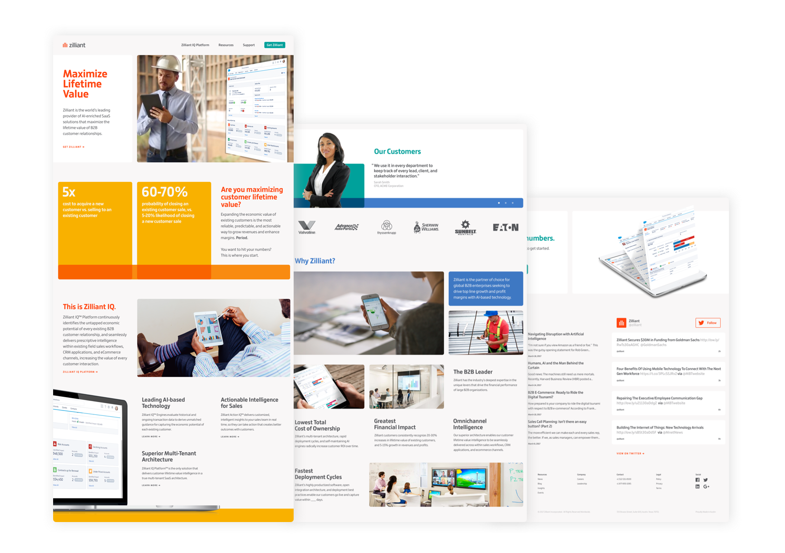In combination with a revised message, we transformed their core sales and marketing enablement assets to support that position.