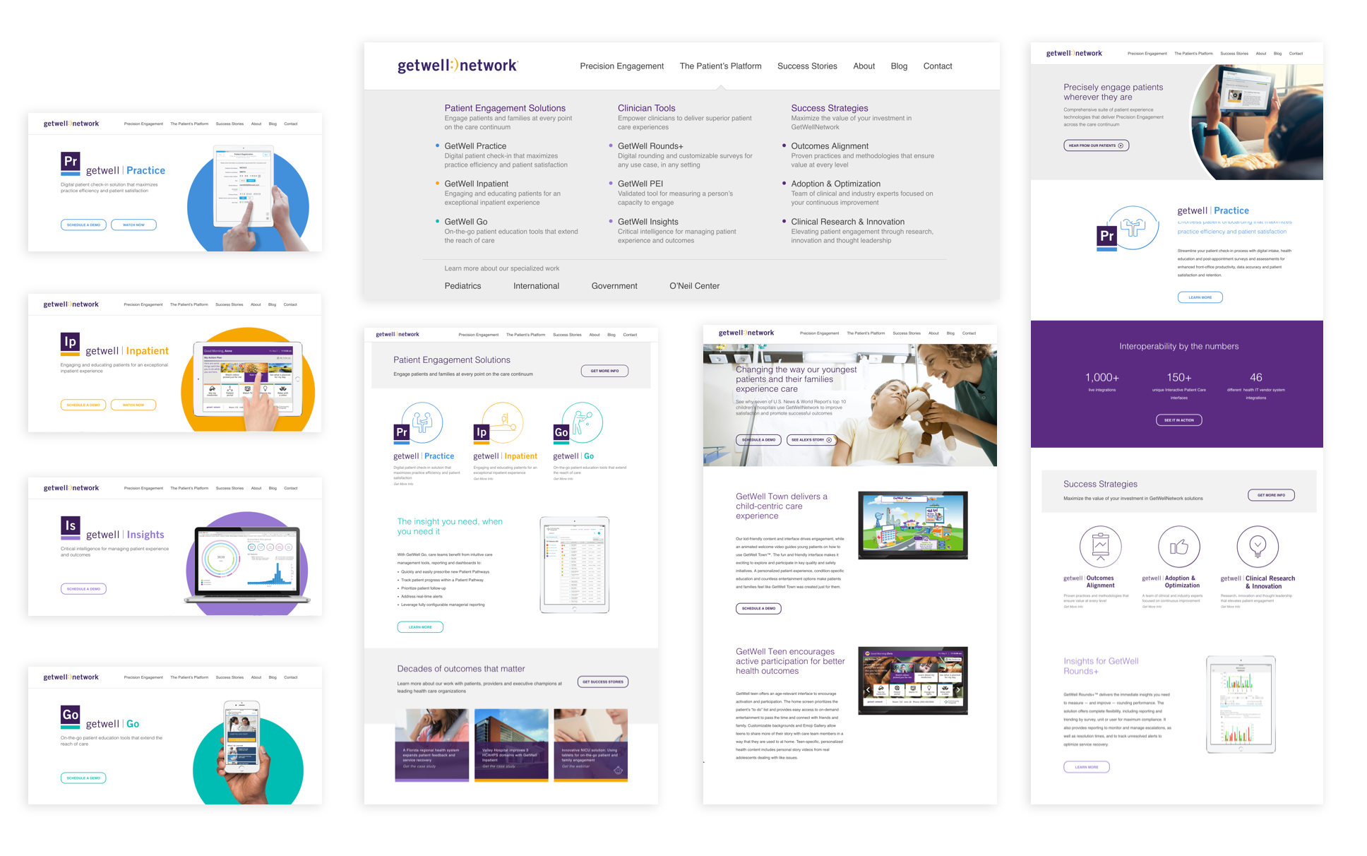 To amplify the fantastic success of GetWell's product, we relaunched their corporate website. The relaunch also coincided with our modernizing of their go-to-market materials, pricing, and product packaging architecture.