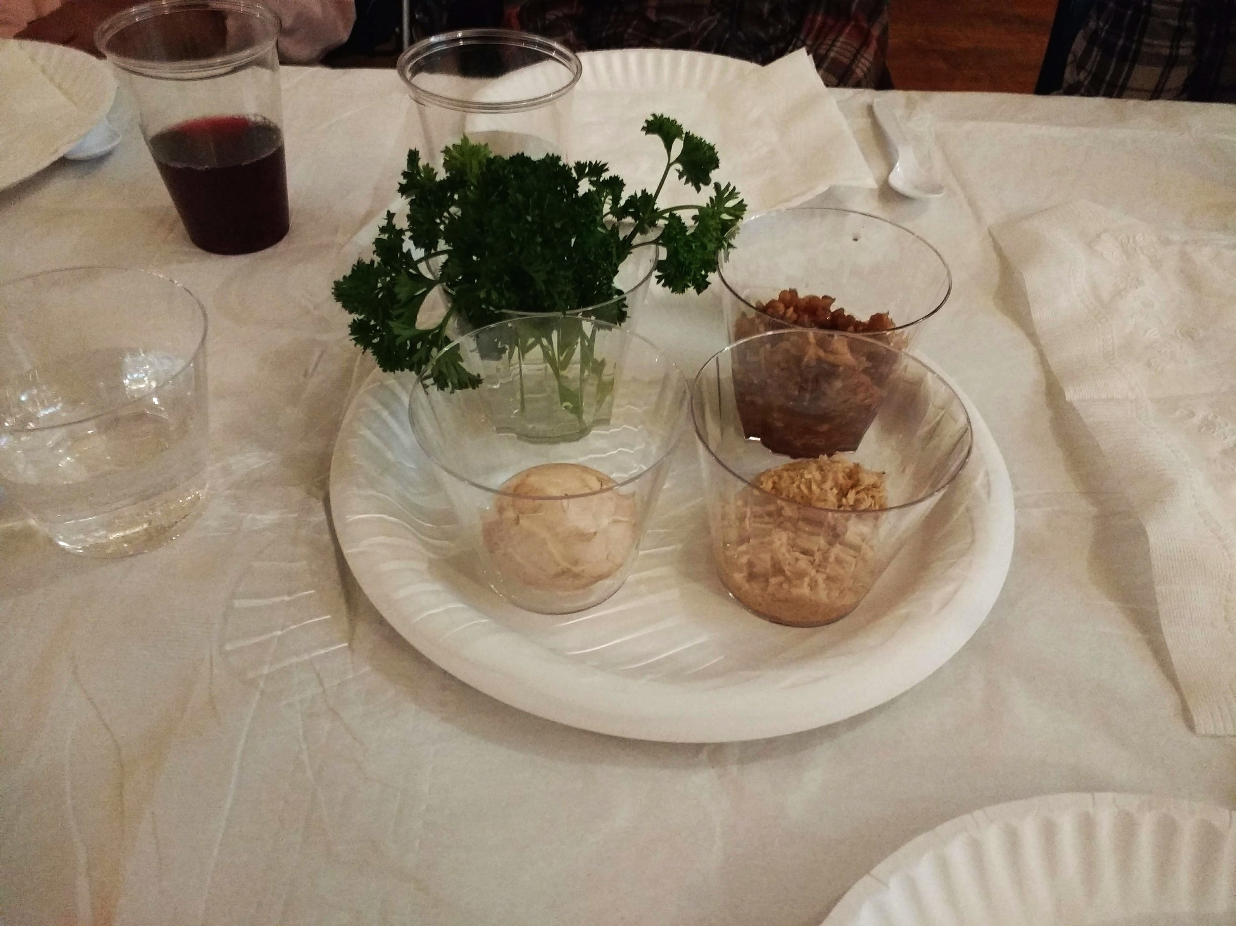 Passover seder elements