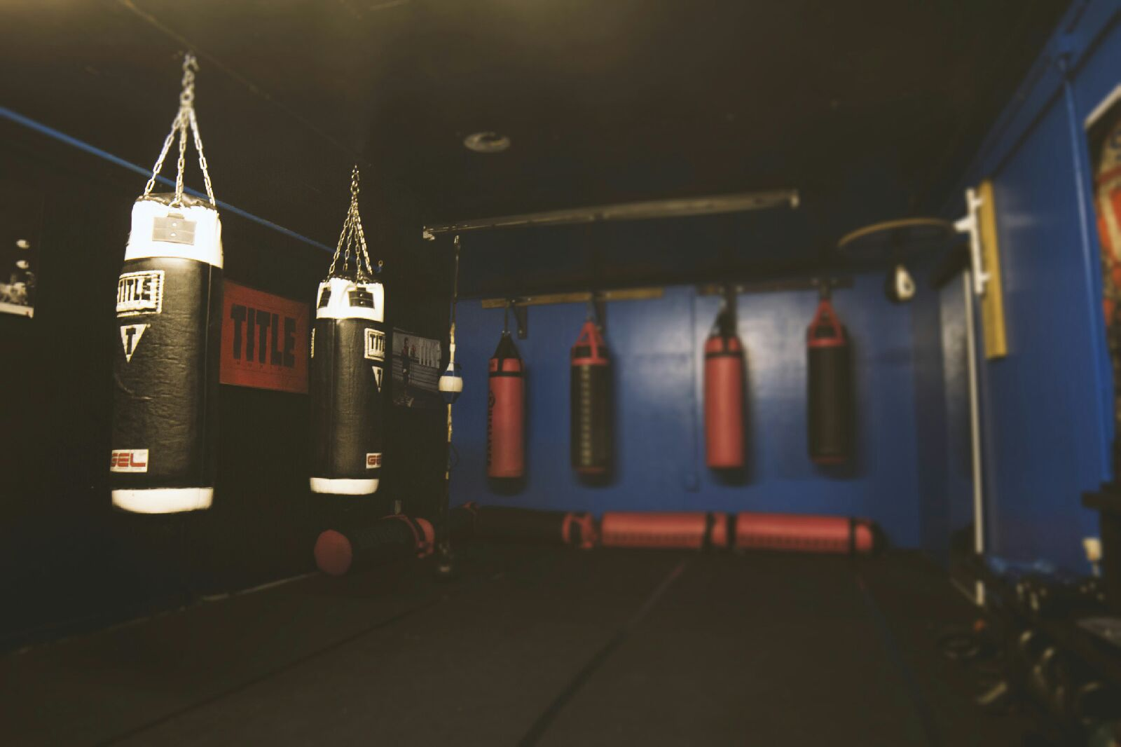"""""""THE FOXHOLE"""" - IF CLASS TIMES DON't fit your schedule, the foxhole has heavy bags, a speed bag, weights and kettlebells available for you to use on your own.OPEN weekdays FROM 10am - 8pm and anytime classes are going on."""
