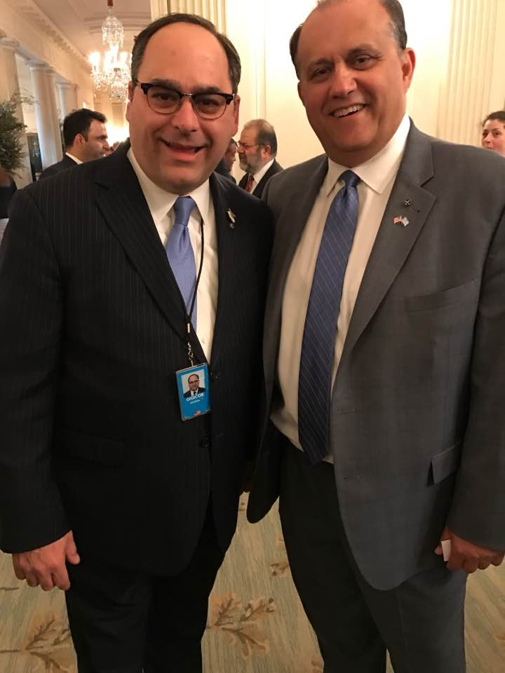 AHI President Nick Larigakis with White House Deputy Assistant to the President and Director of Advance George Gigicos.