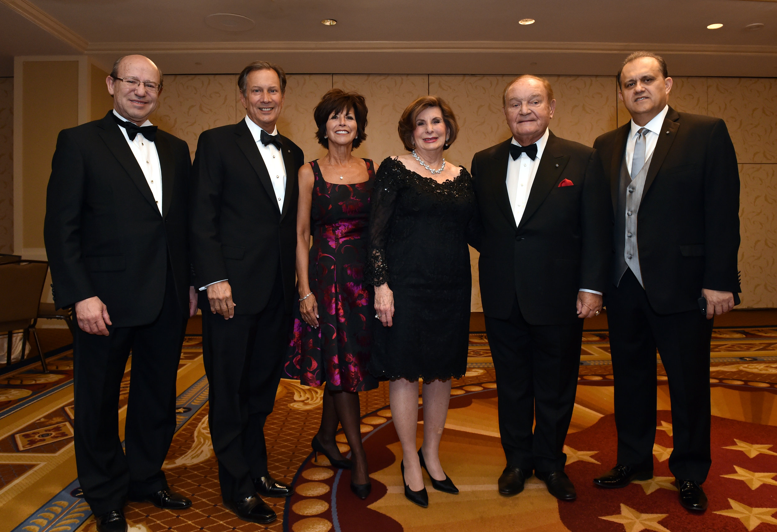 From left: Costas Galanis, Leon Andris, Robyn Andris, Penny Korkos, Dr. George Korkos, Nick Larigakis