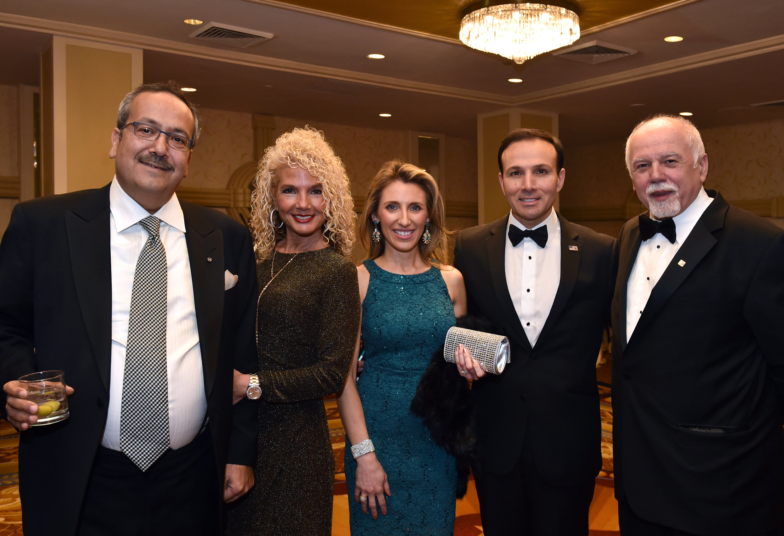 From left: Dr. Spiro Spireas, Dr. Emily Spireas, Adriana Sifakis, George Sifakis, and Paul Kotrotsios
