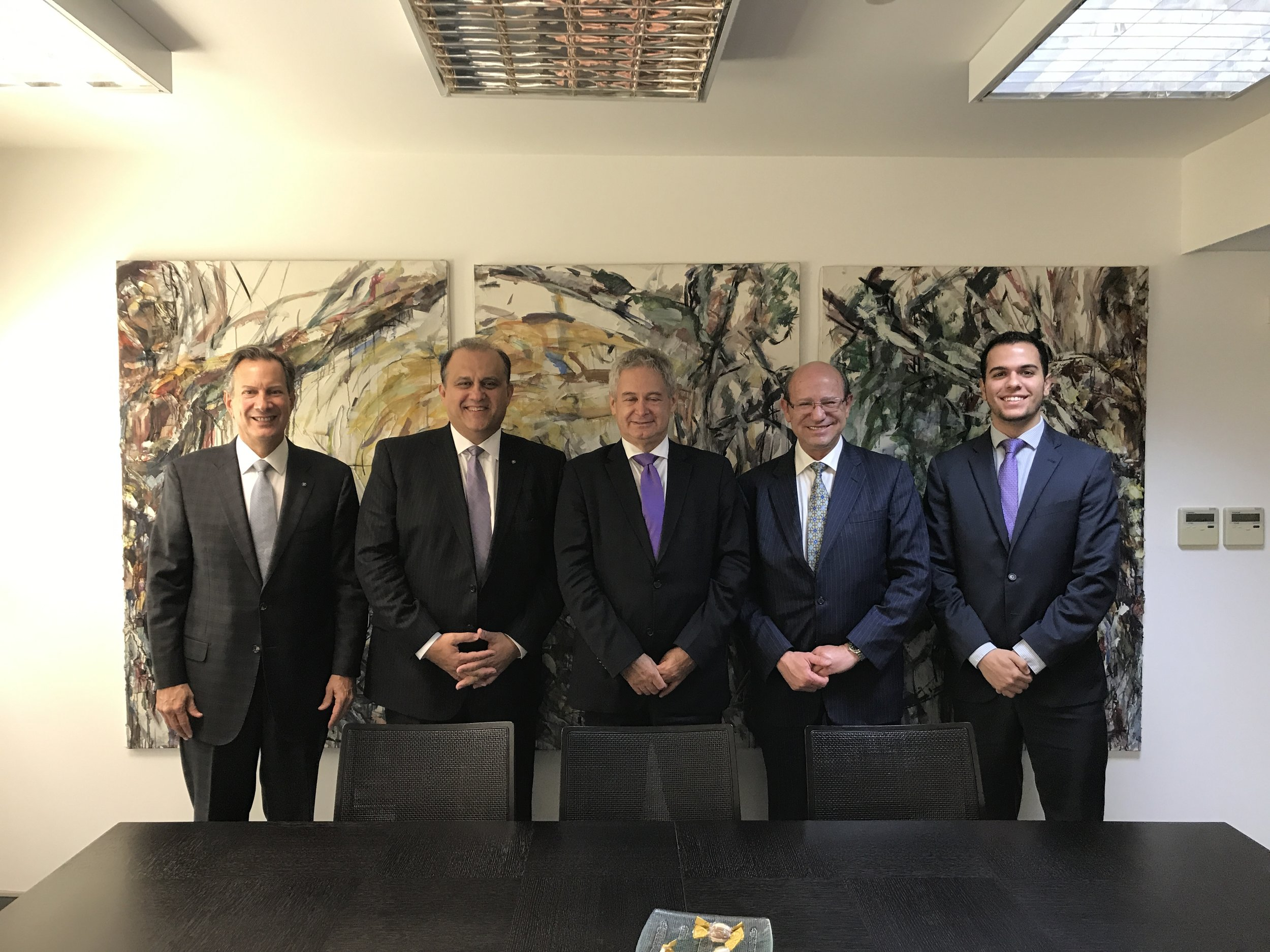 AHI Delegation with Ambassador Andreas Mavroyiannis, Greek Cypriot Negotiator for the Cyprus Problem