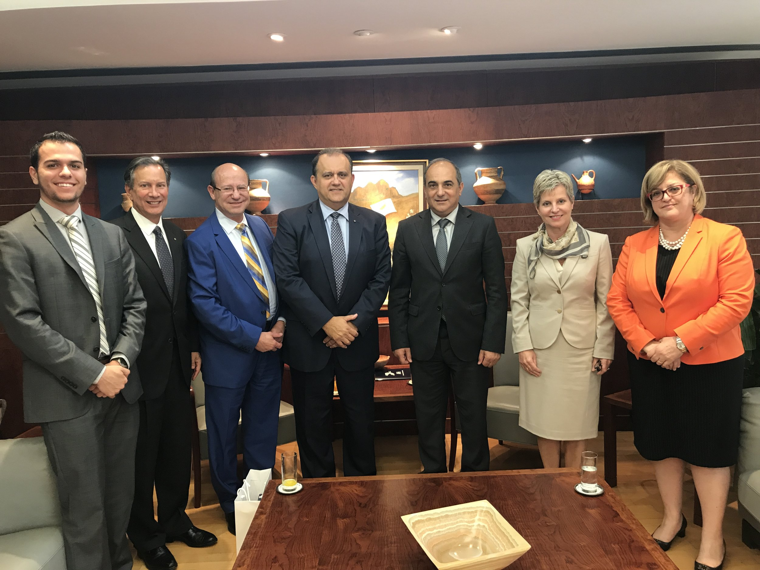 AHI Delegation with Mr. Demetris Syllouris, Speaker of the Cypriot House of Representatives