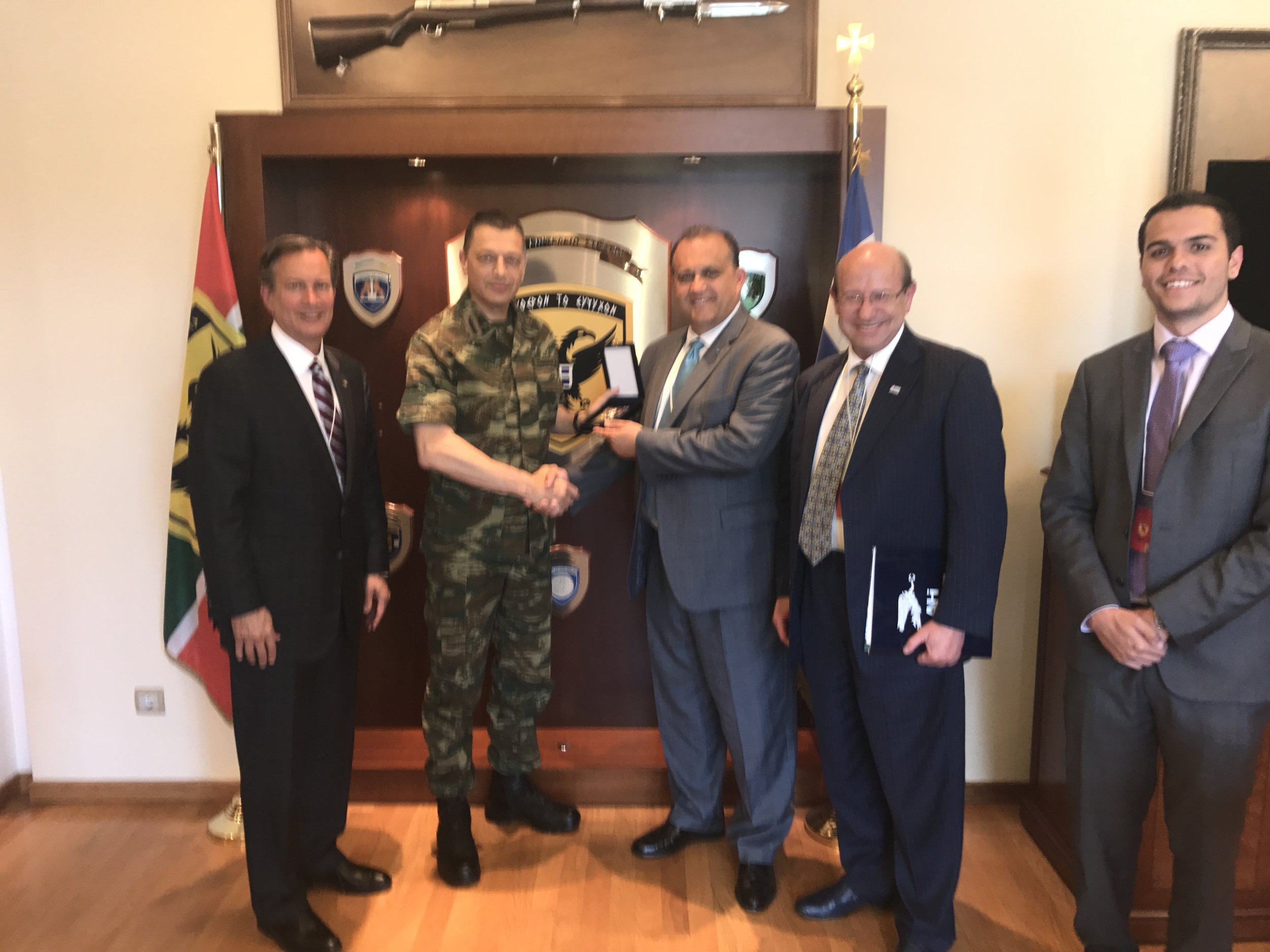 AHI Delegation with Lt. General Alkiviadis Stefanis,Chief of the Hellenic Army General Staff