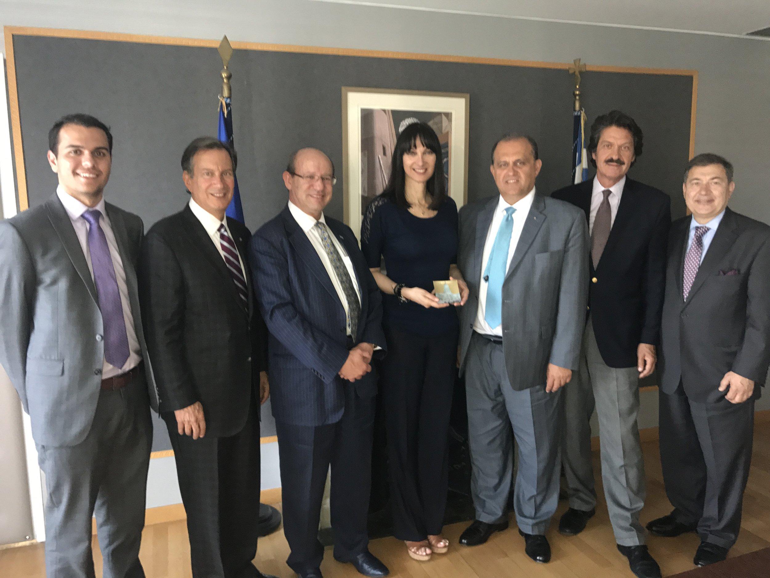 AHI Delegation with Elena Kountoura, Minister of Tourism