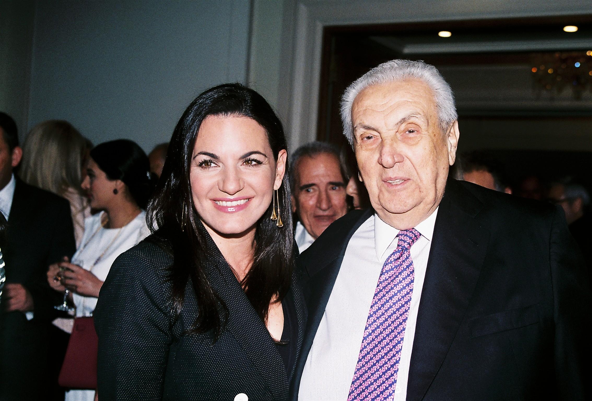 Former Minister of Tourism, Olga Kefalogianni and Dimitri Contominas