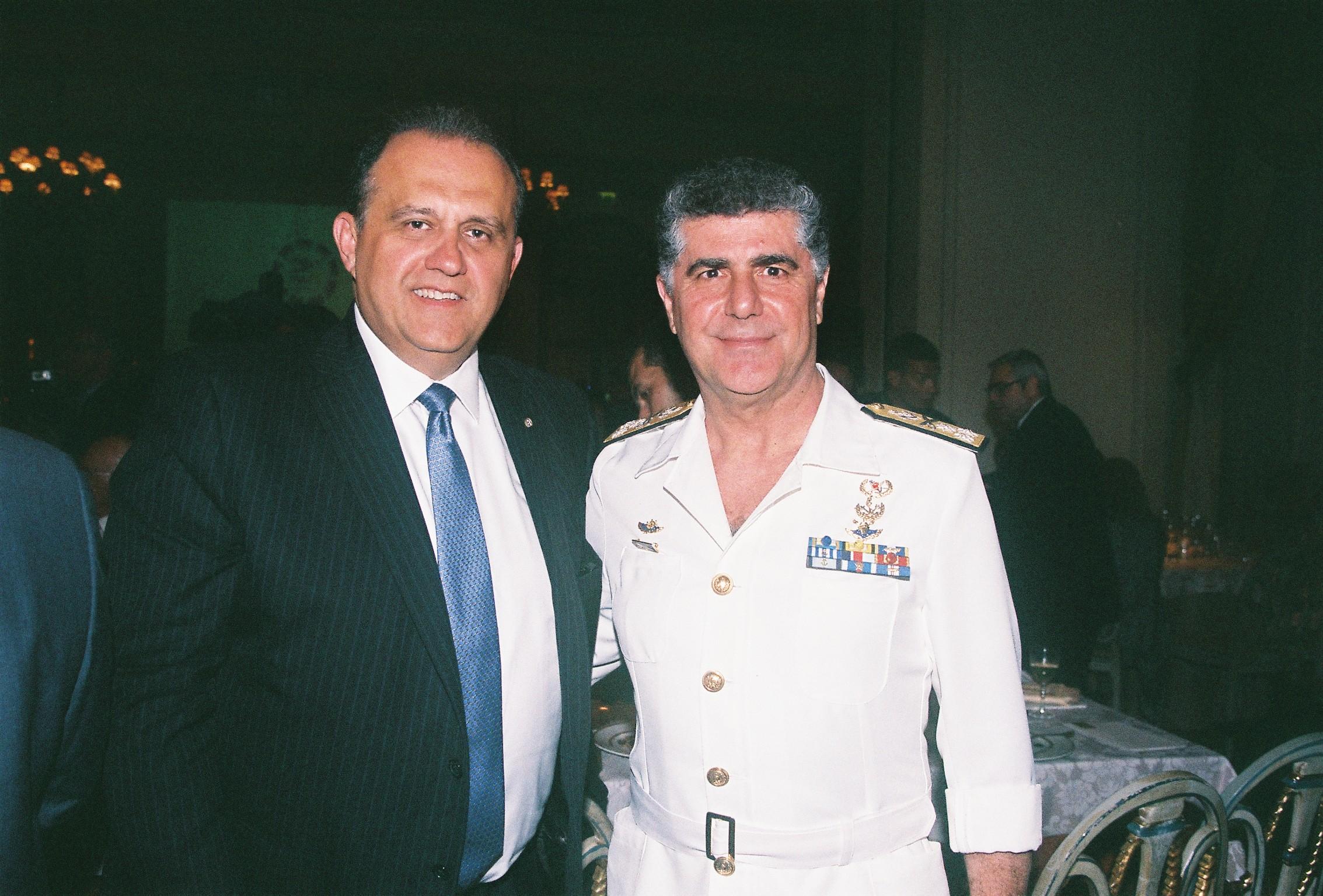 Nick Larigakis, Vice Admiral Nicolaos Tsounis, Chief of the Hellenic Navy General Staff