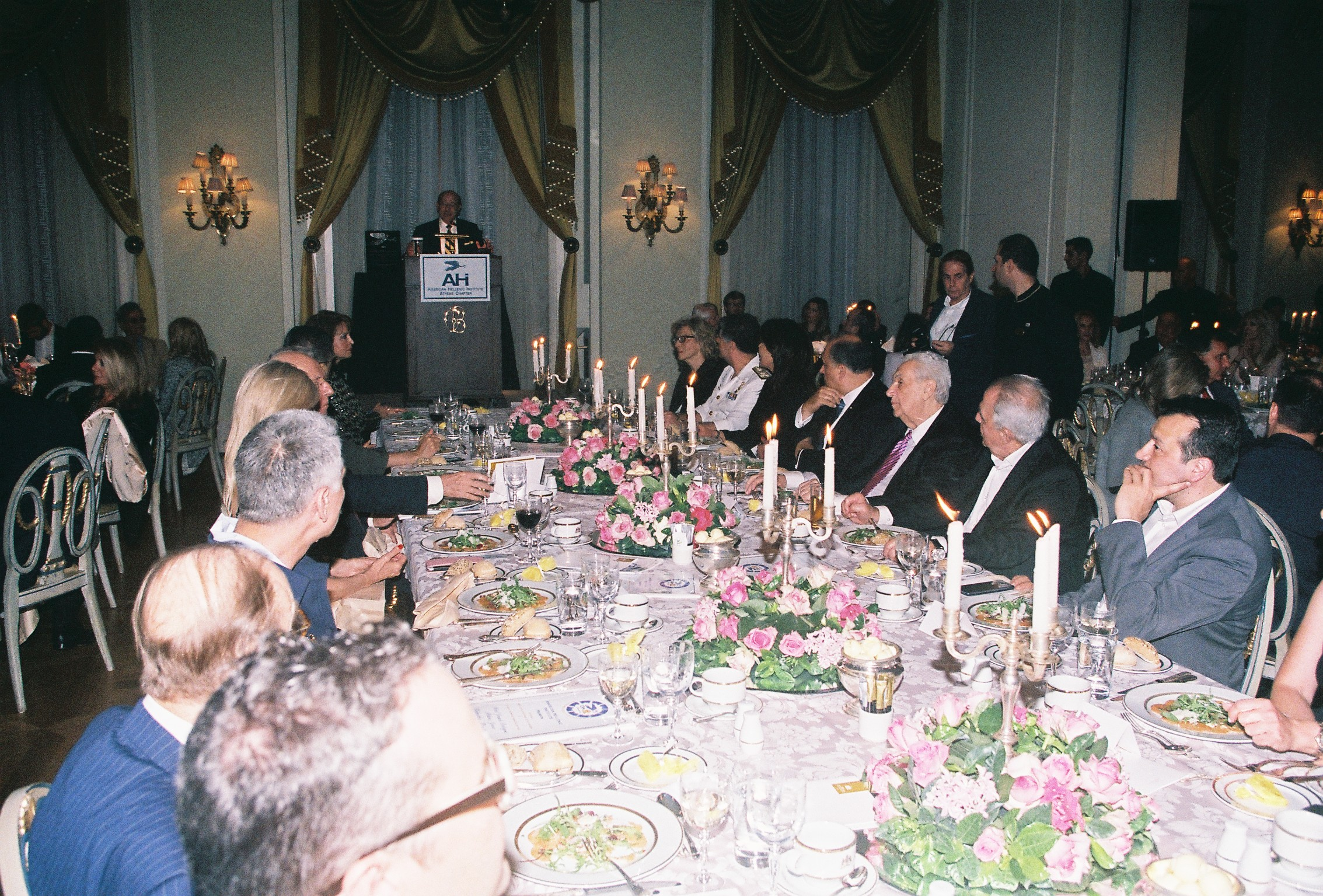 Constantine Galanis gretting the guests at the 13th Annual Awards Dinner in Athens