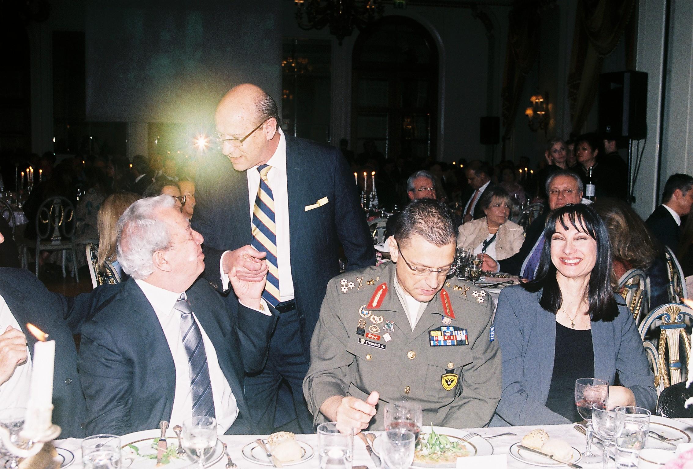 George Economou; Constantine Galanis; Lt. General Alkiviadis Stefanis, Chief of the Hellenic Army; Elena Kountoura, Minister of Tourism