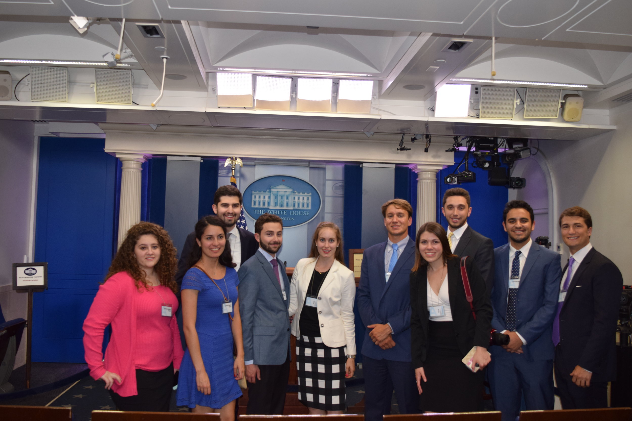 White House Press Briefing Room.