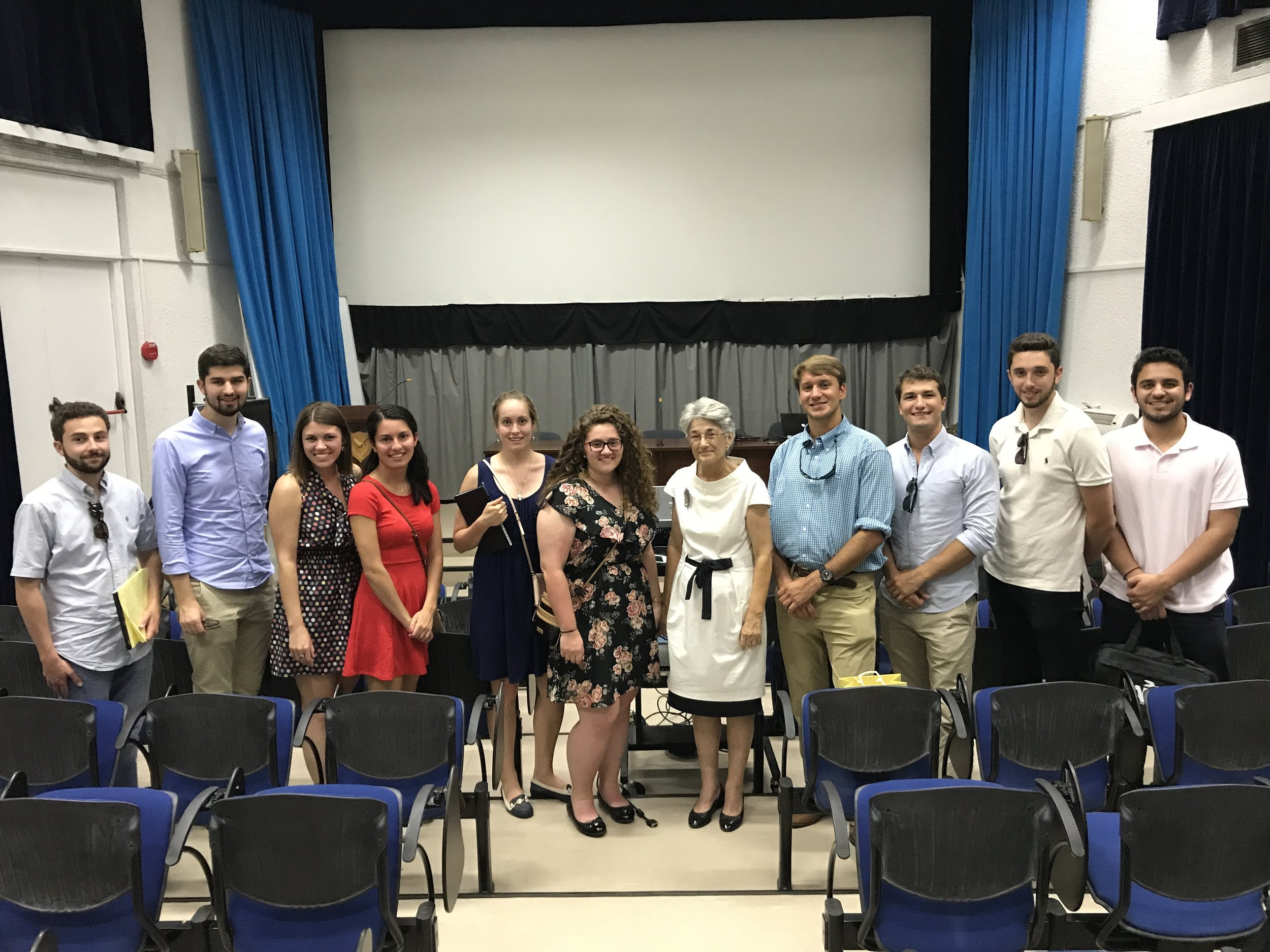 Titina Loizidou briefed the students on the history of Cyprus and her landmark legal victory against Turkey.