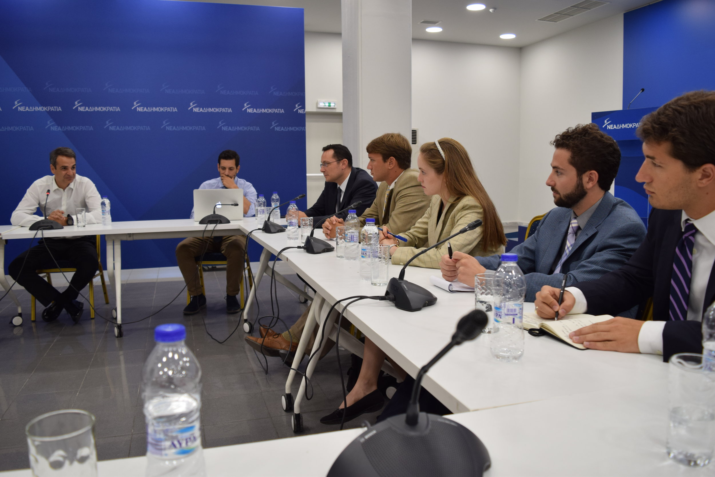 President of the New Democracy Party, Kyriakos Mitsotakis discusses his plans for Greece and its relationship with the United States.