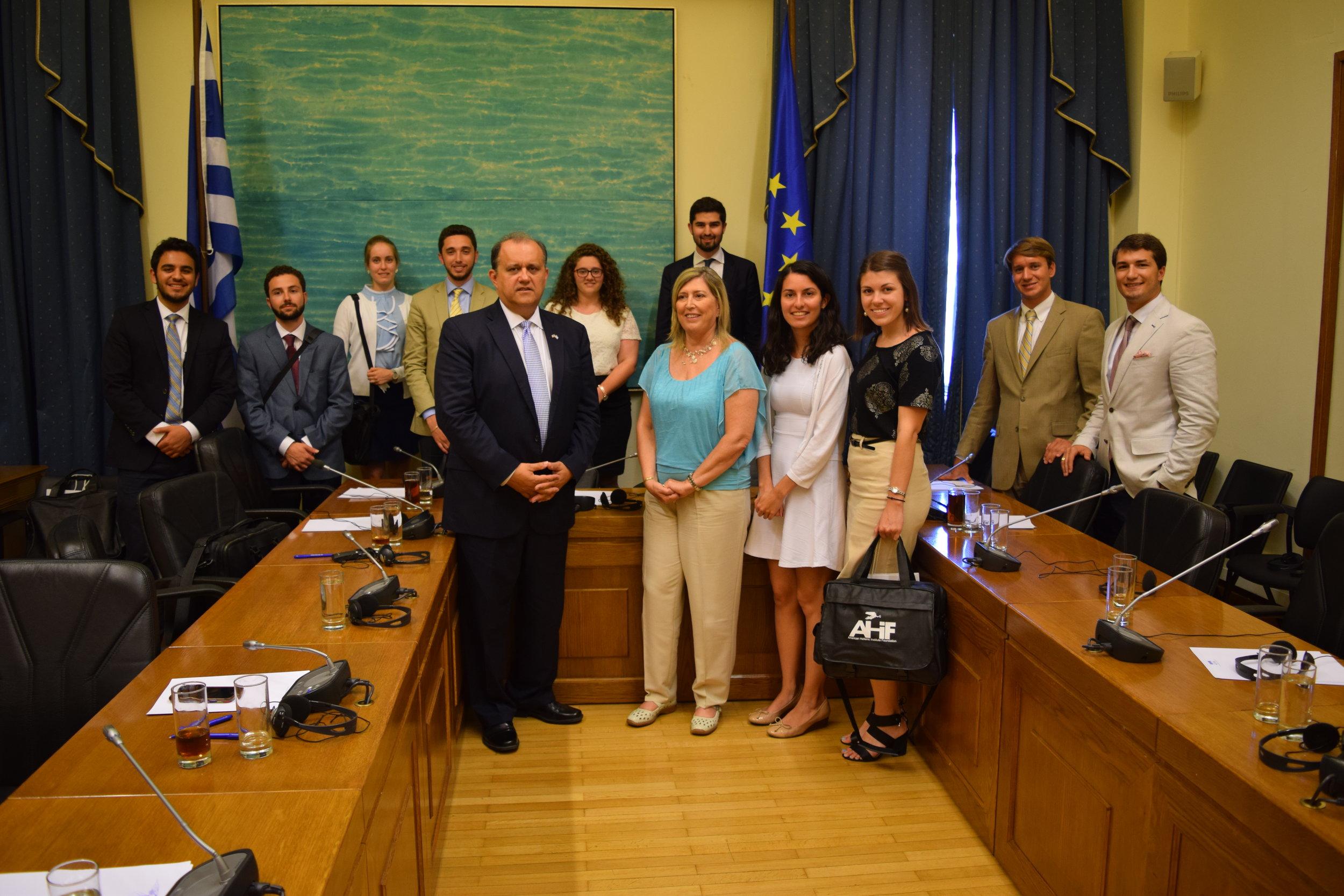 Member of the Greece-U.S. Friendship Group in Hellenic Parliament, Evangelia Karakosta.
