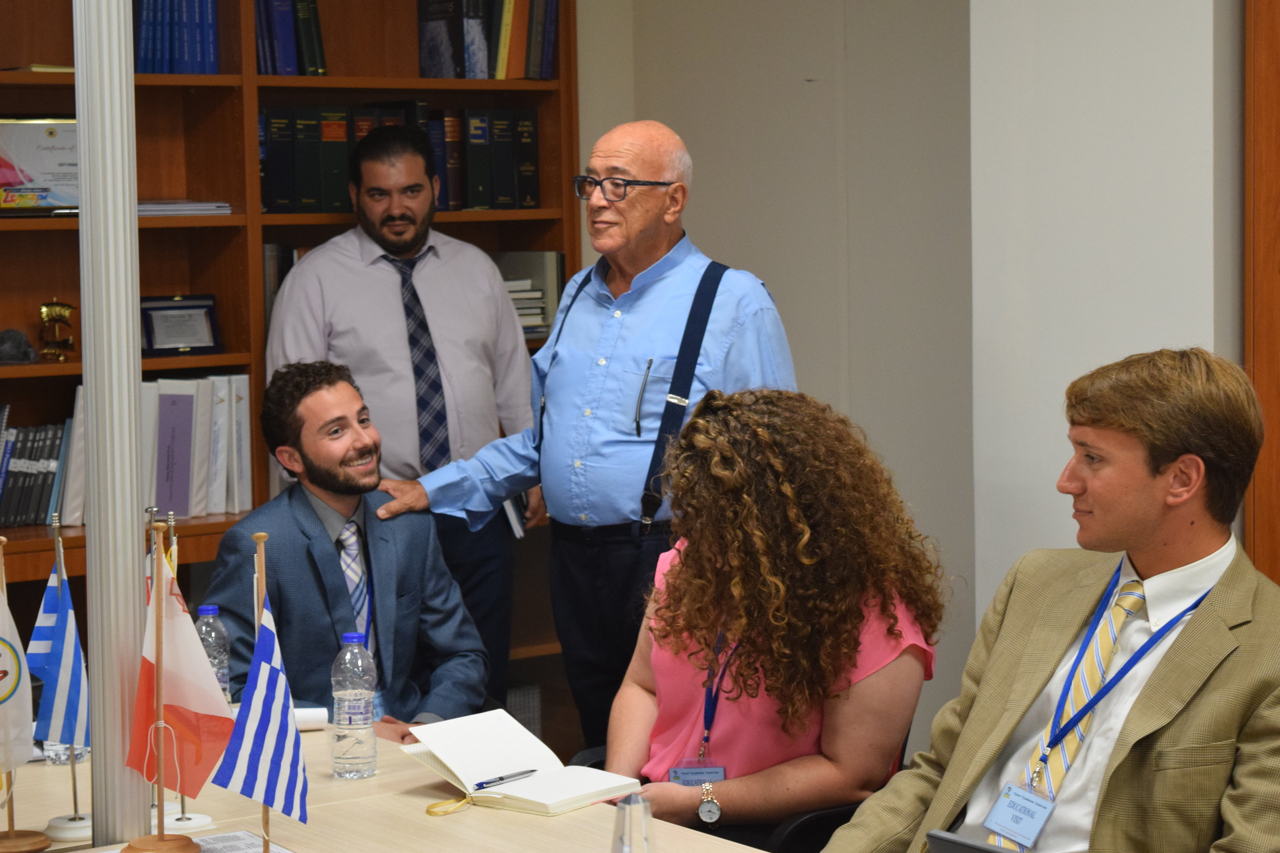 Captain Pangiotis Tsakos, founder of Tsakos Shipping & Trading S.A. talks about the strength of Greek shipping and provides students with successful business advice.