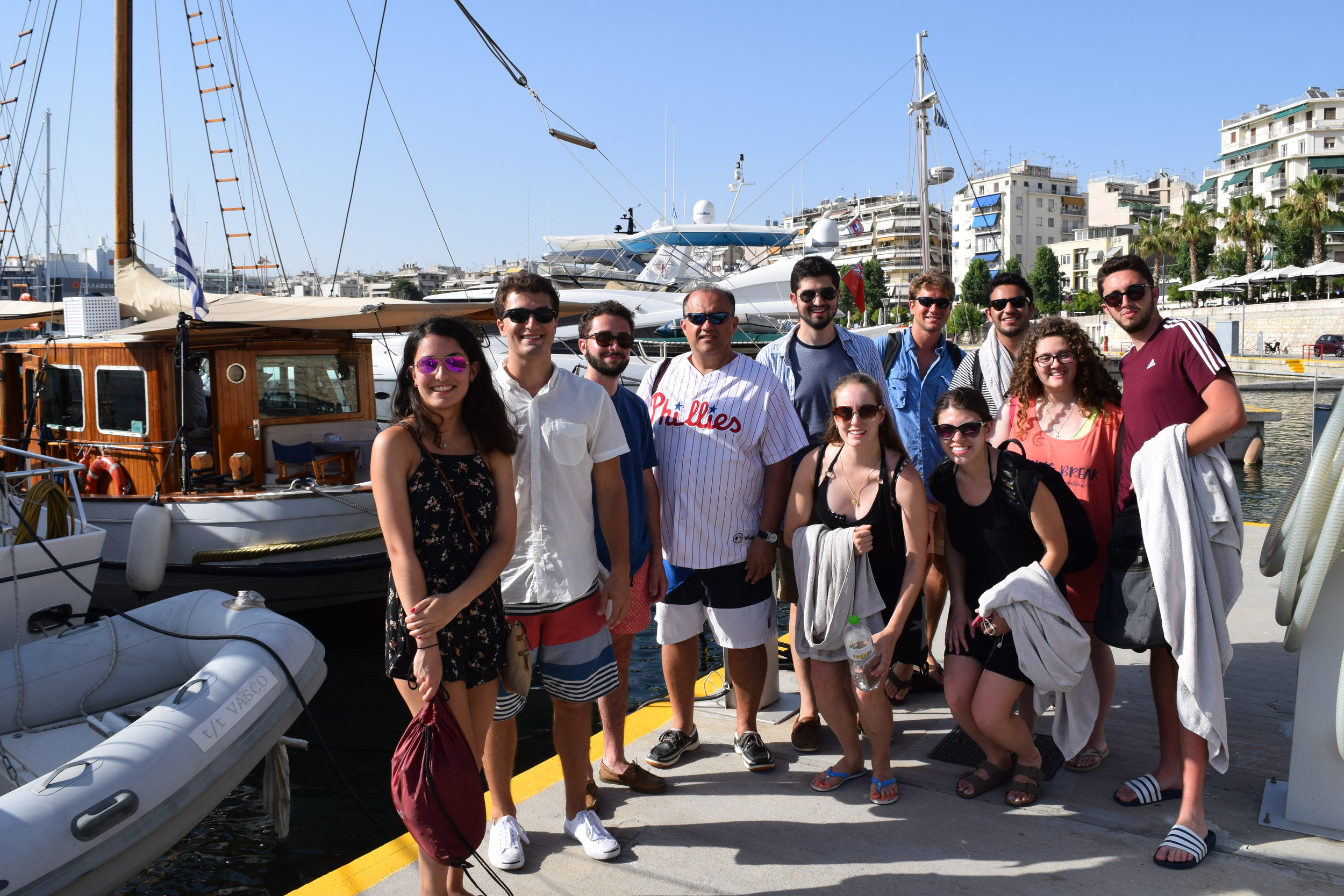 All day boat outing courtesy of Katerina Pangopoulos.