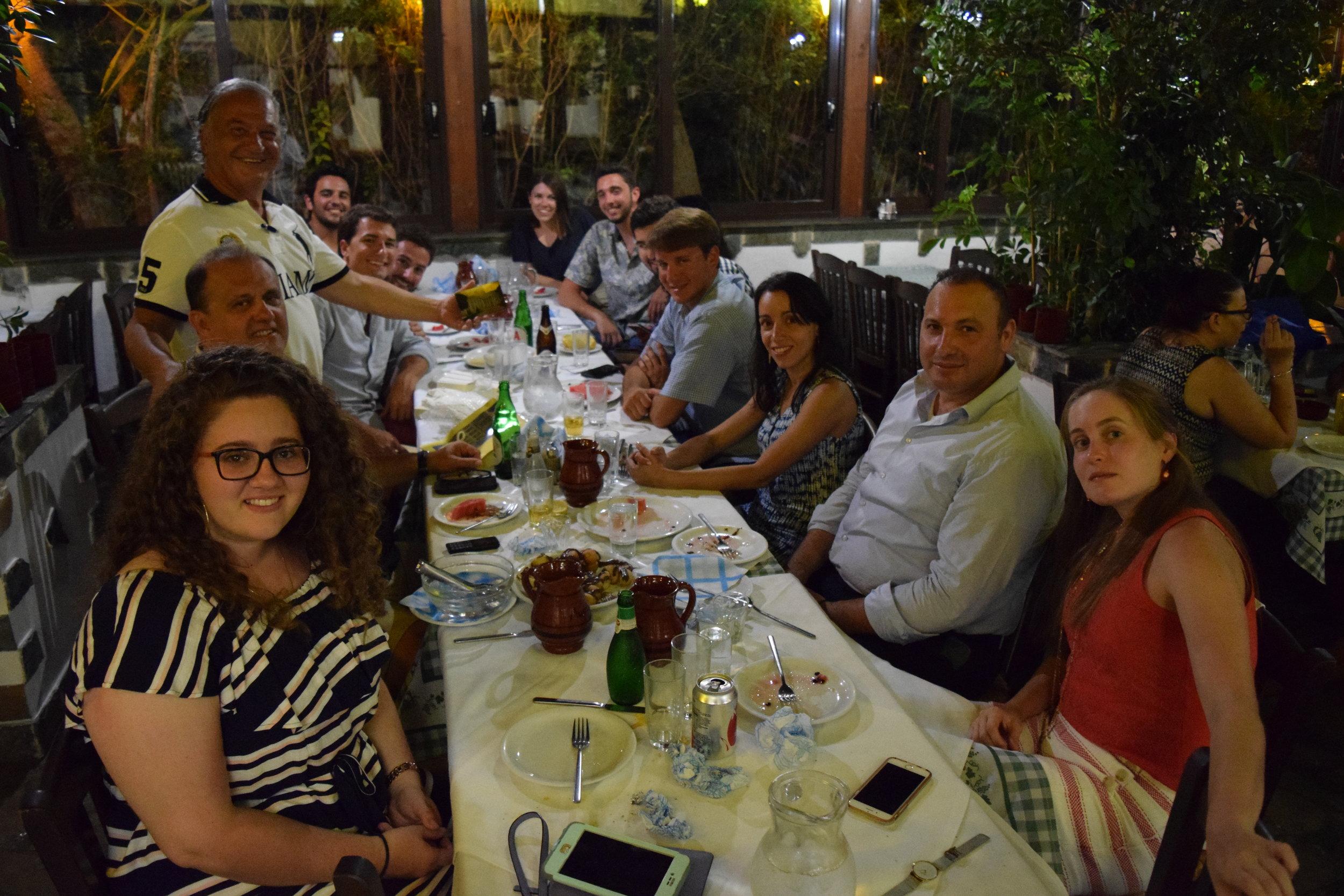 Dinner at Myrtia restaurant, hosted by George Mermelas.