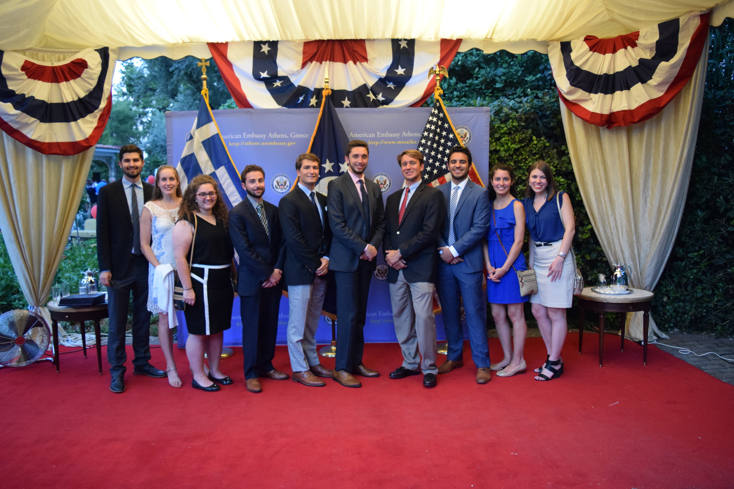 July 4th Embassy Reception at the Ambassador's Residence.
