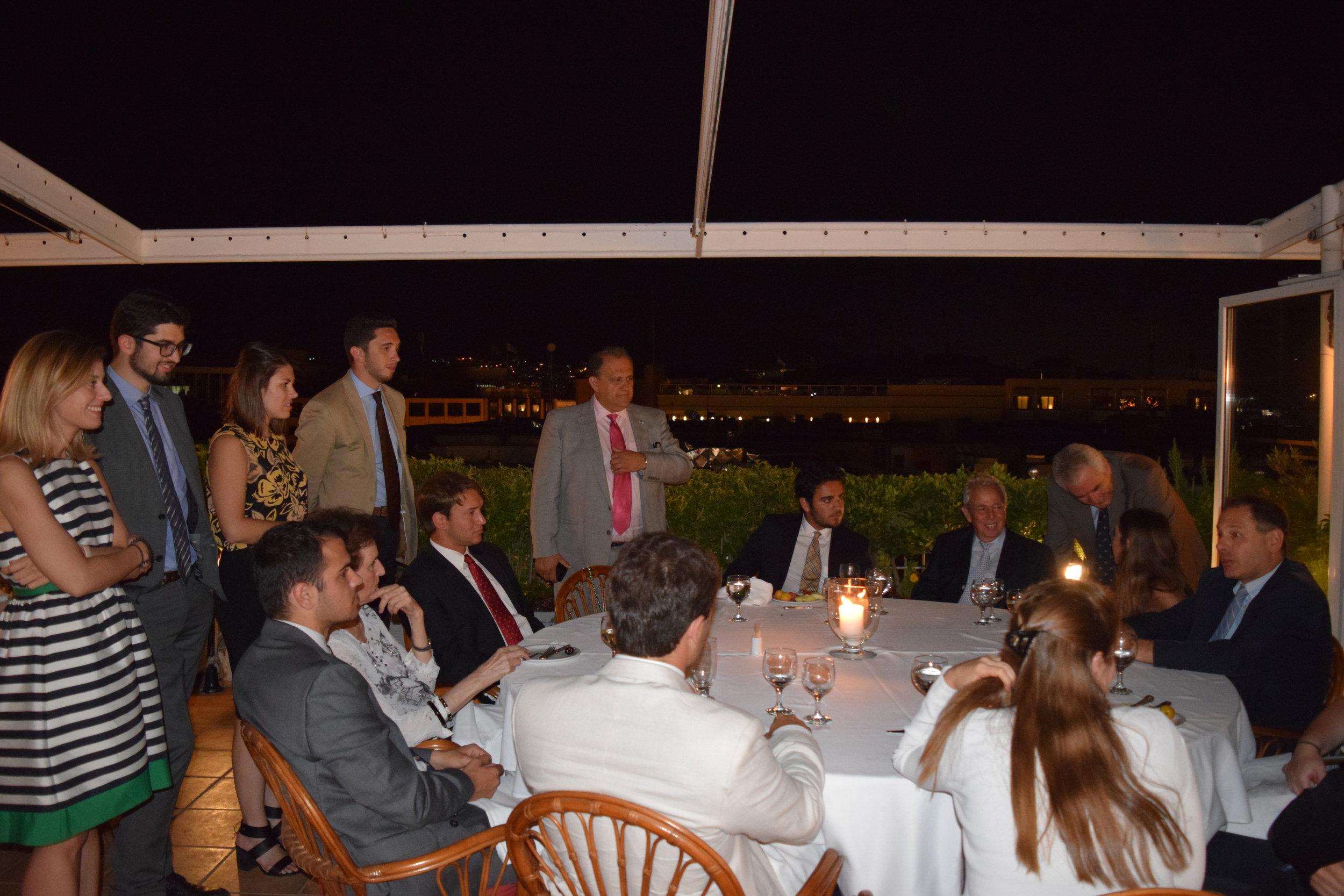 Dinner at the Athens Club hosted by AHI-Athens President George Economou.
