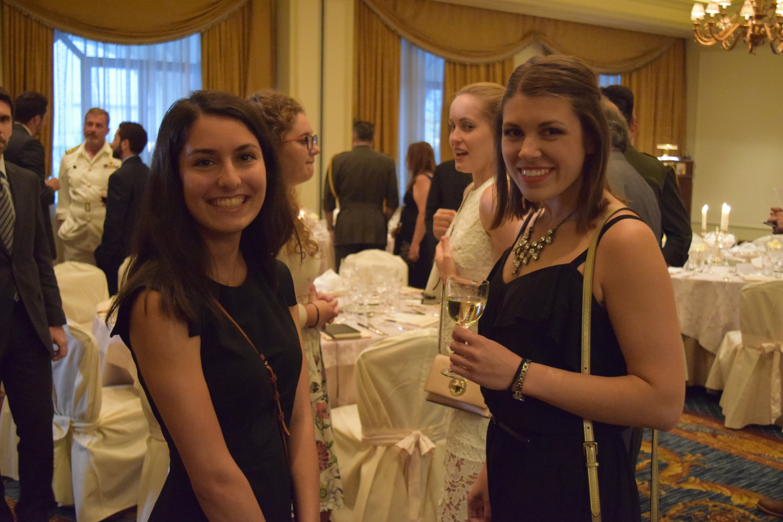 Stephanie Tanzi and Giana Damianos at the Farewell Dinner.