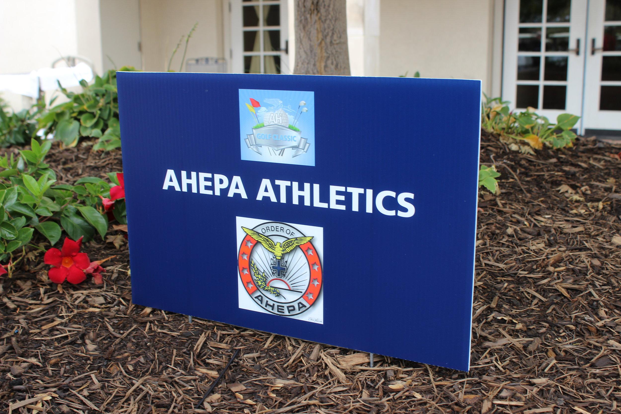 Golf Cart Sponsor, AHEPA Athletics.