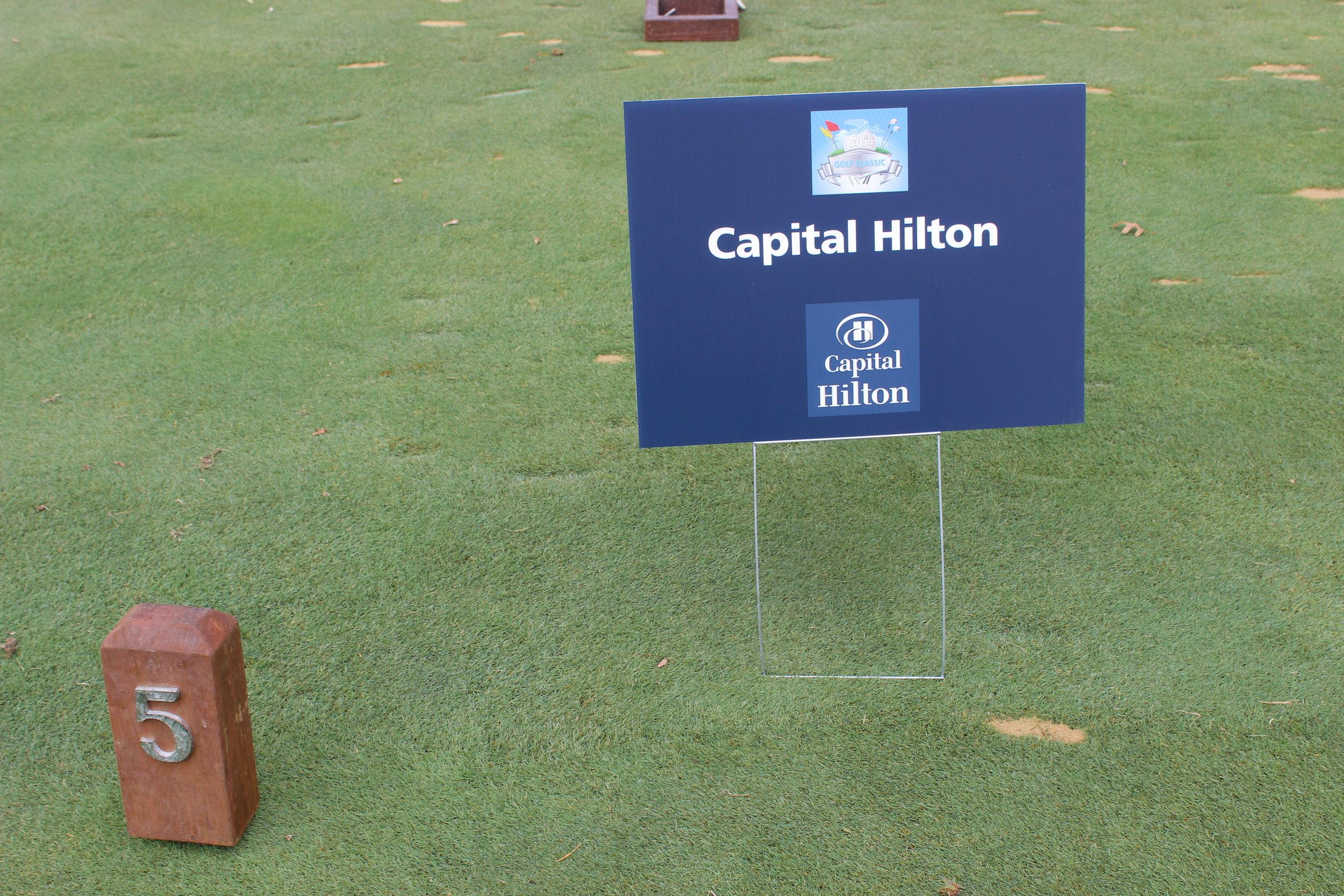 Hole Sponsor, Capital Hilton.