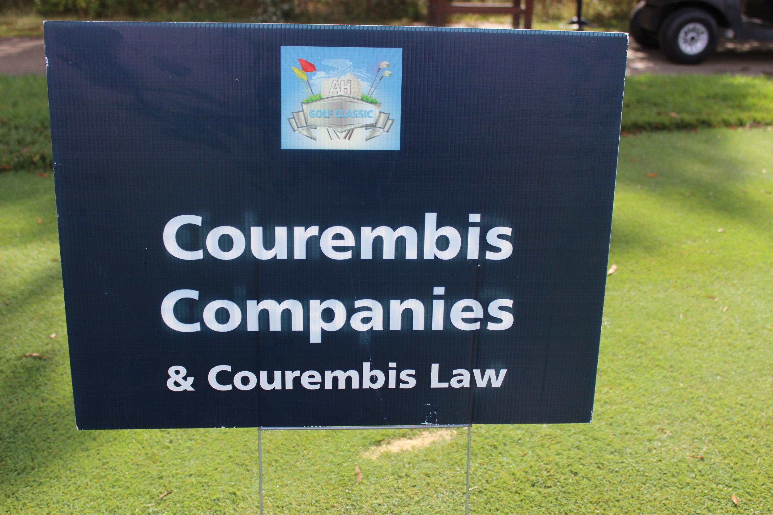 Hole Sponsor, Courembis Companies & Courembis Law.