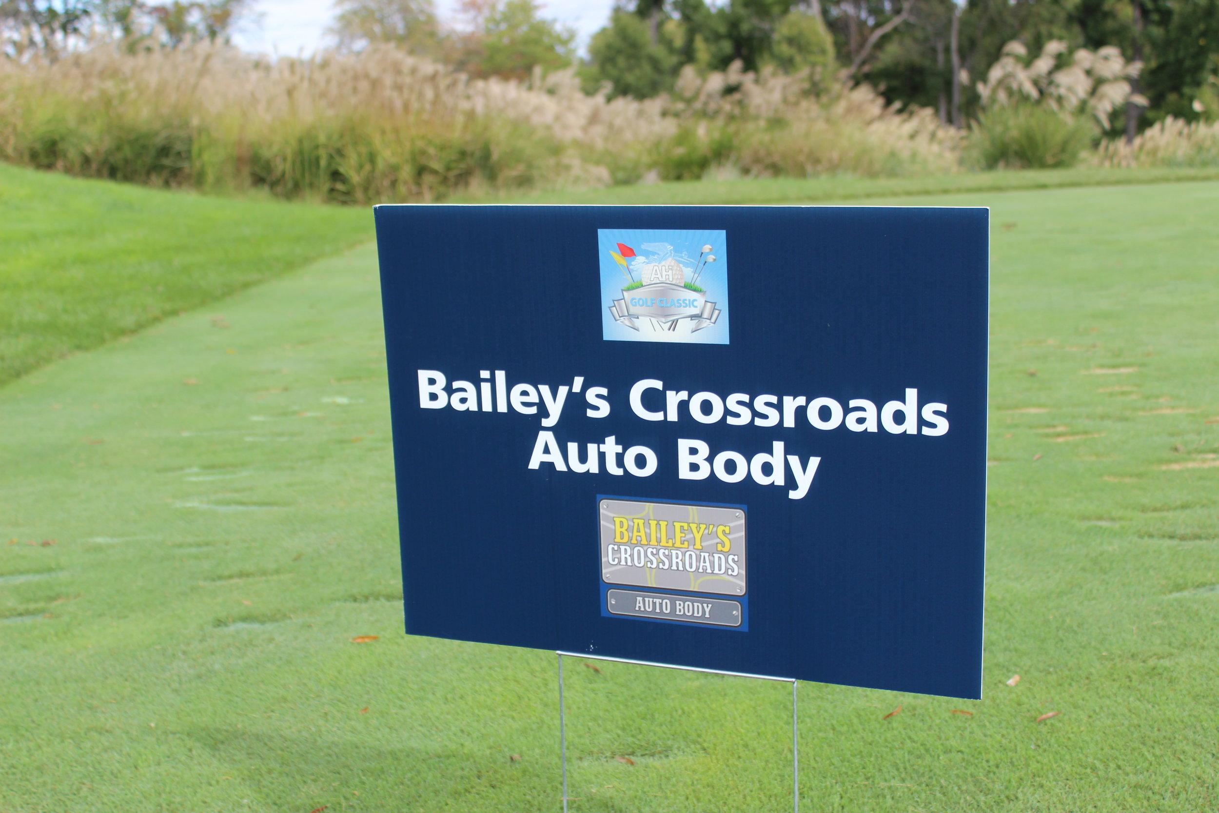 Hole Sponsor, Bailey's Crossroads Auto Body.