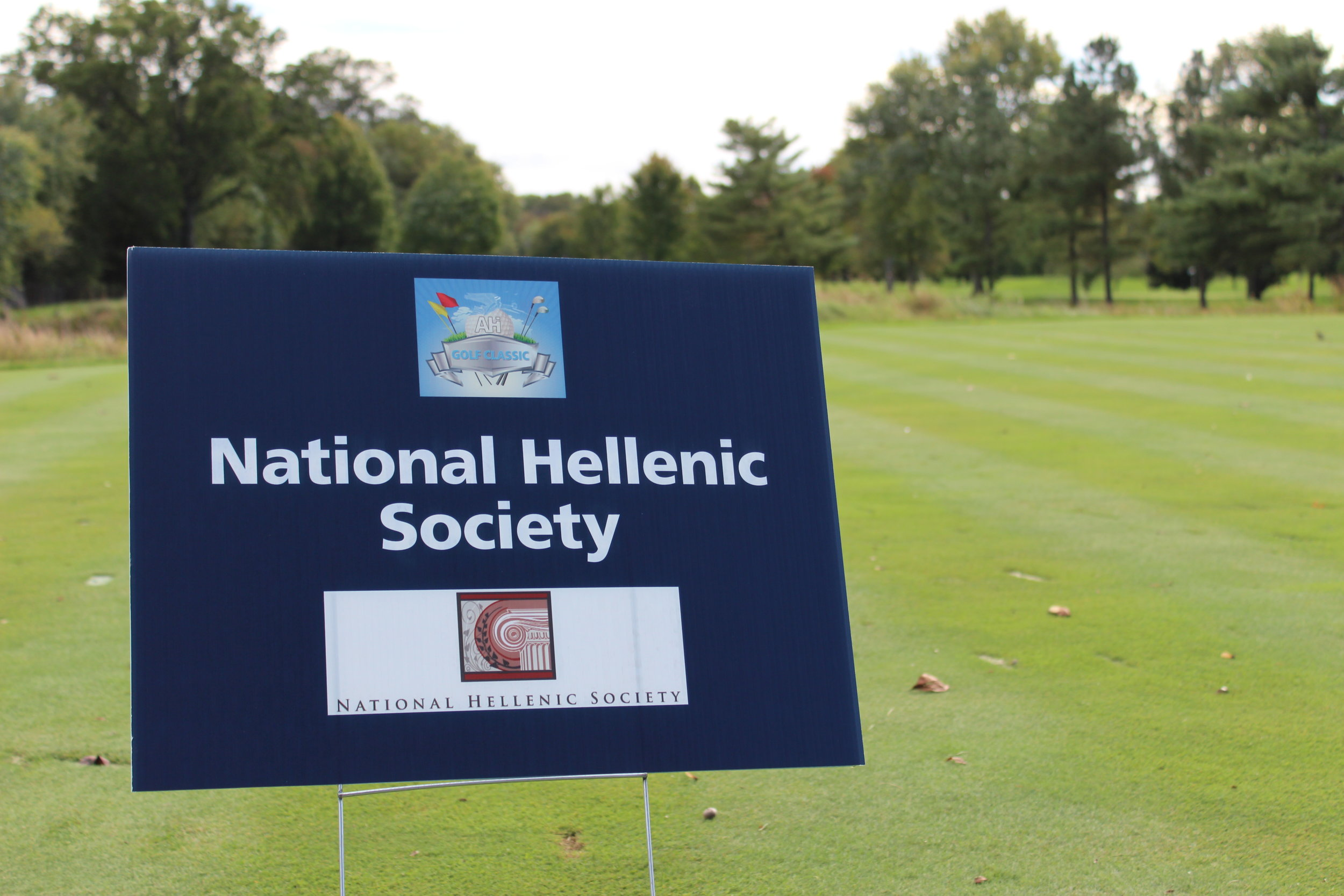 Hole Sponsor, National Hellenic Society.