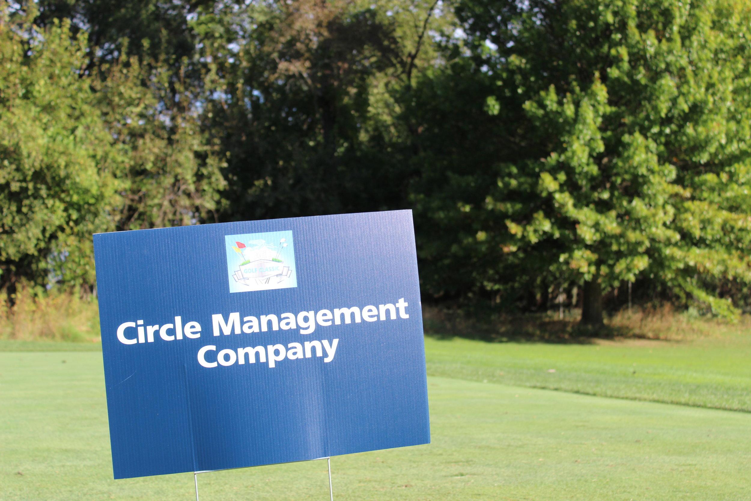 Hole Sponsor, Circle Management Company.