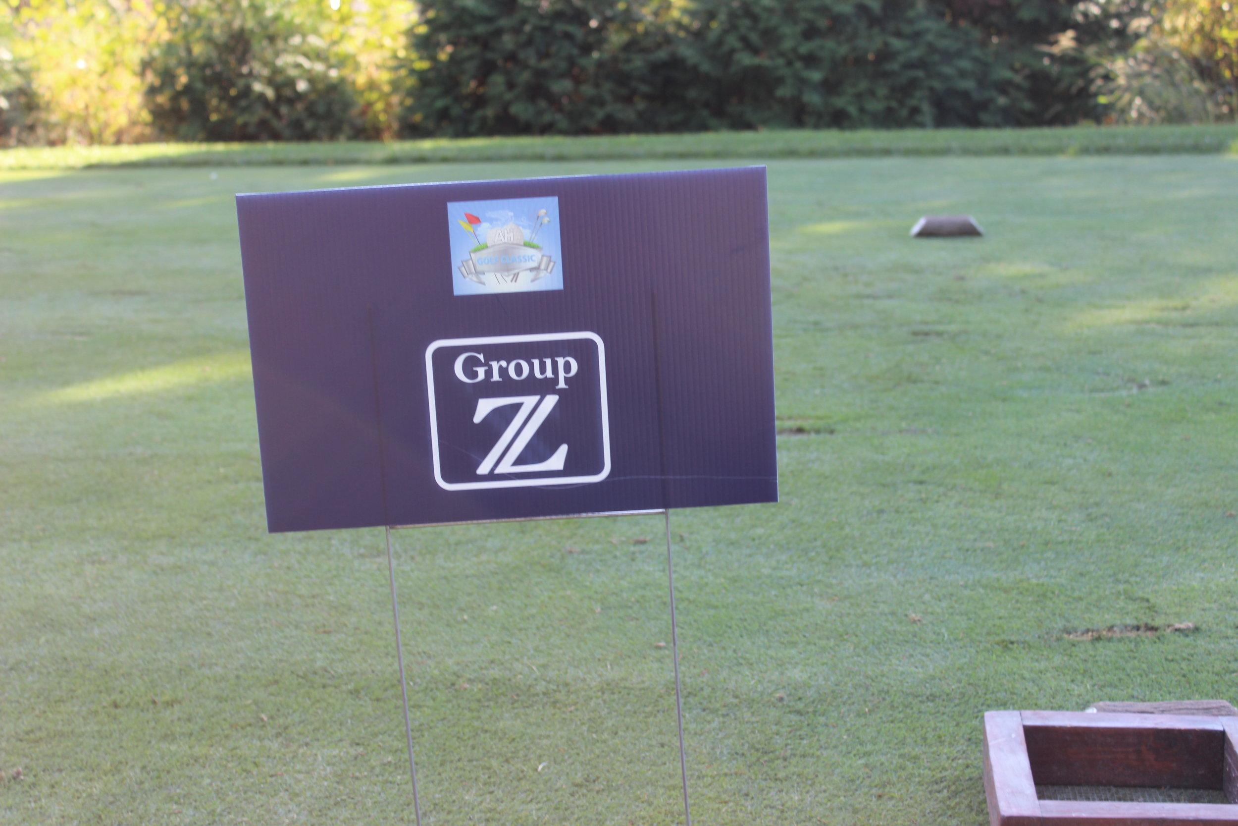 Golf Cart Sponsor, Group Z.