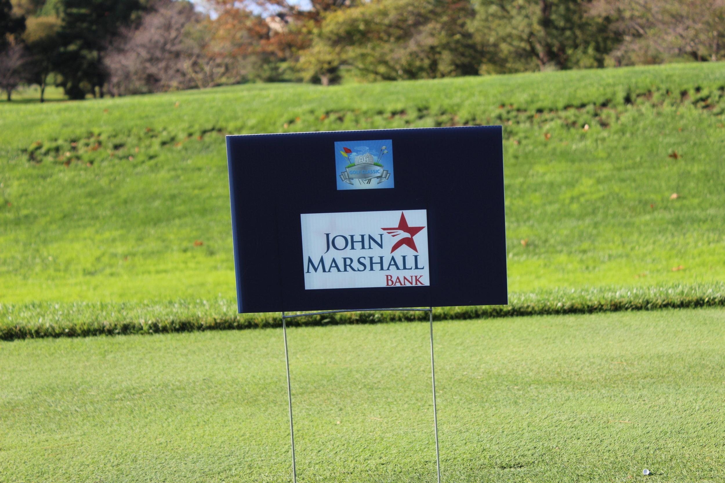 Golf Cart Sponsor, John Marshall Bank.