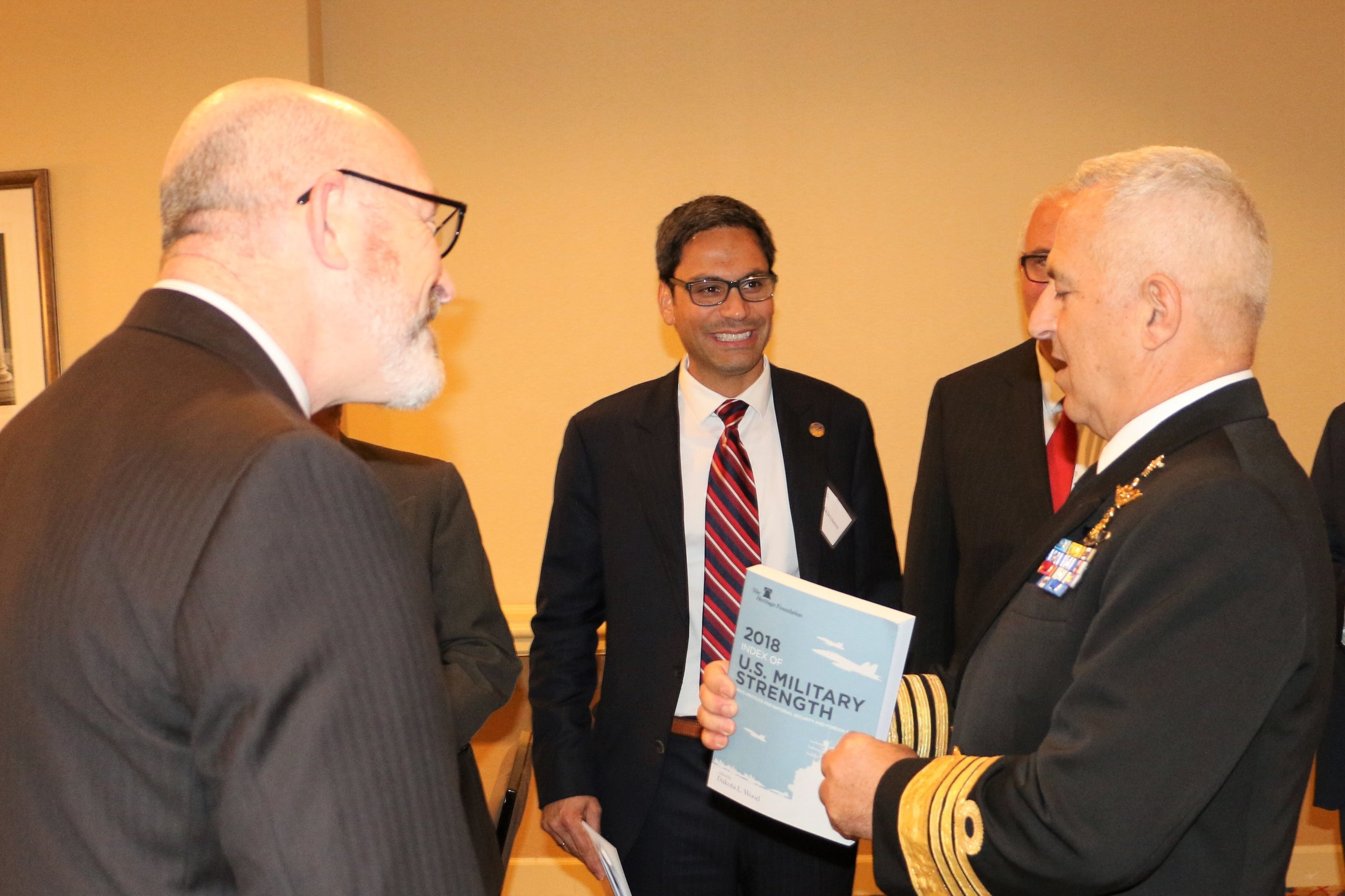 Admiral Apostolakis reviews the Heritage Foundation publication on U.S. Military Strength.