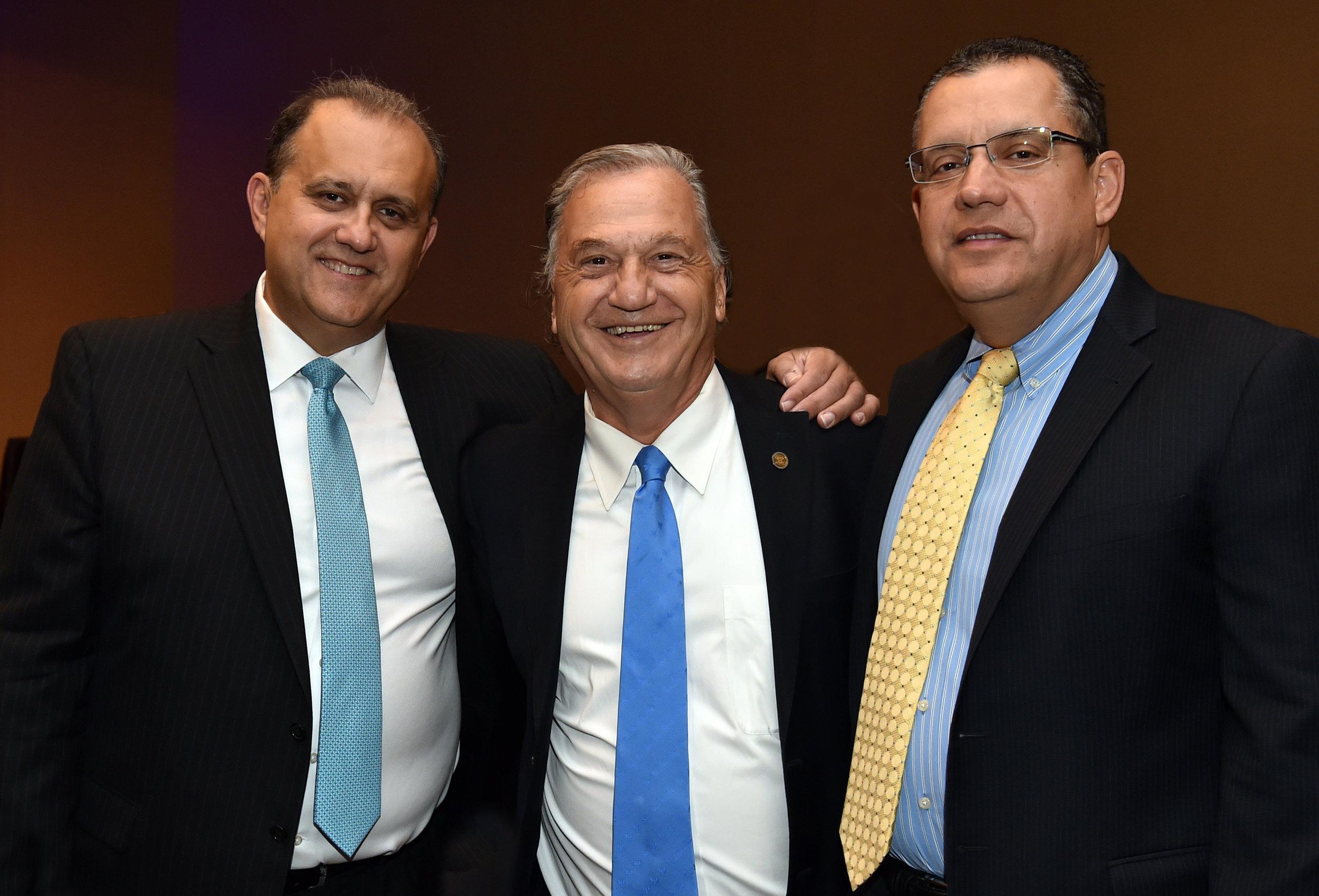 Nick Larigakis, George Mermelas, and Constantine Larigakis.