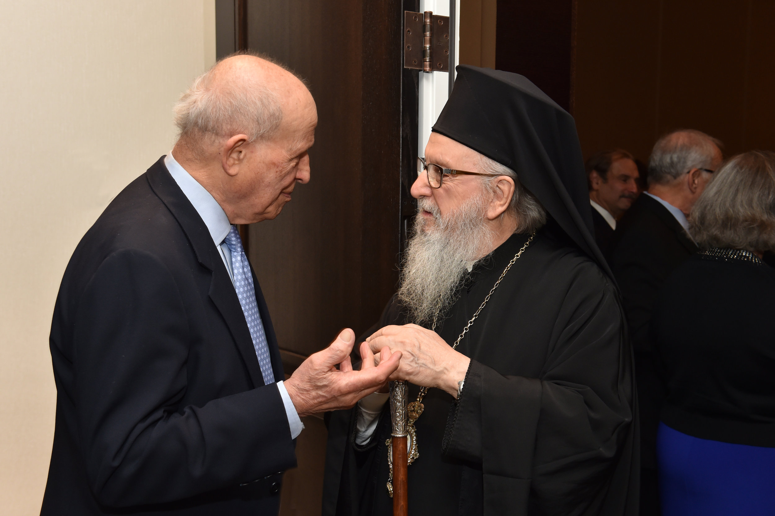 Eugene Rossides and His Eminence Archbishop Demetrios, Geron of America.