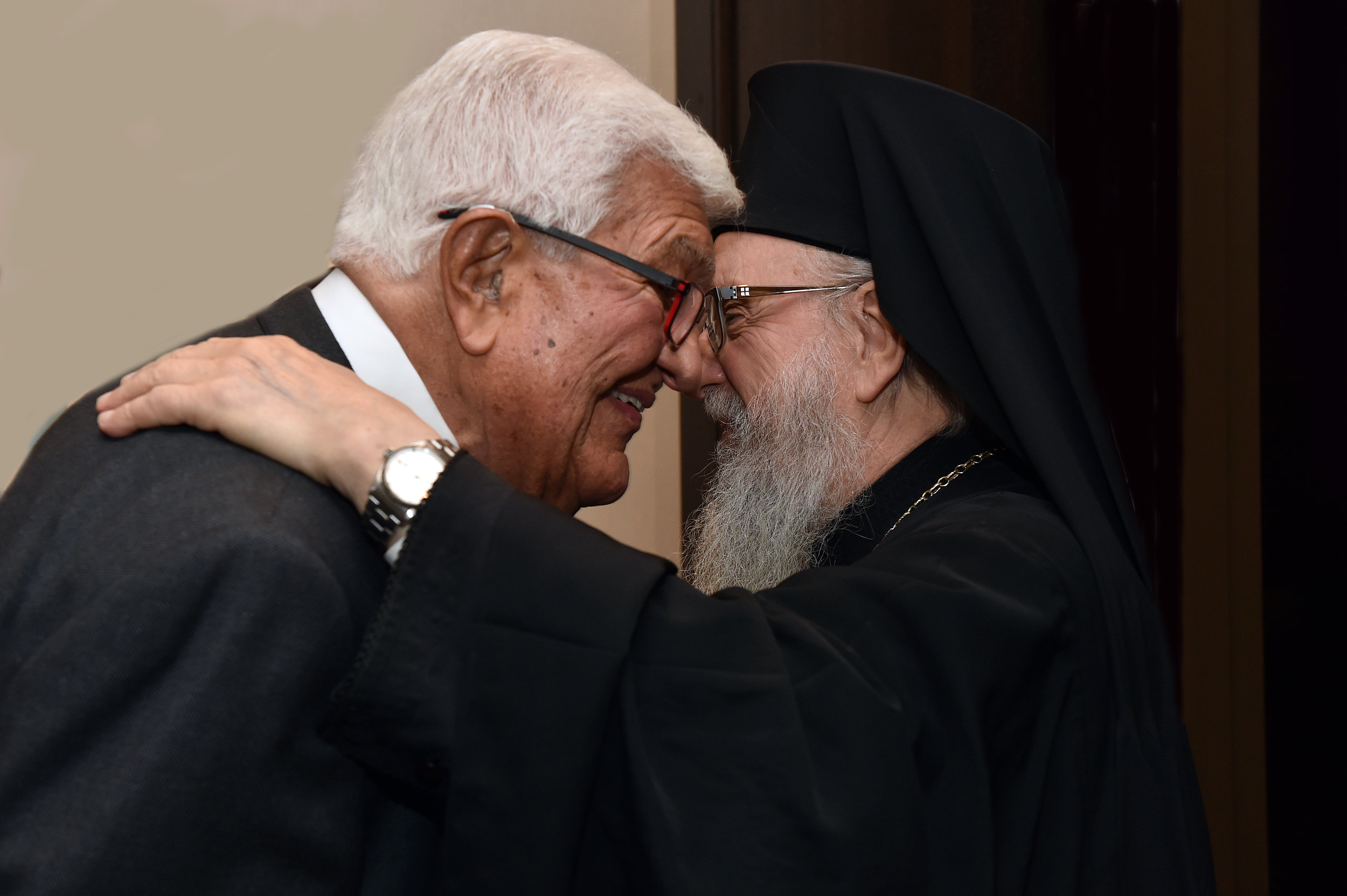 Amb. Tom Korlogos and His Eminence.