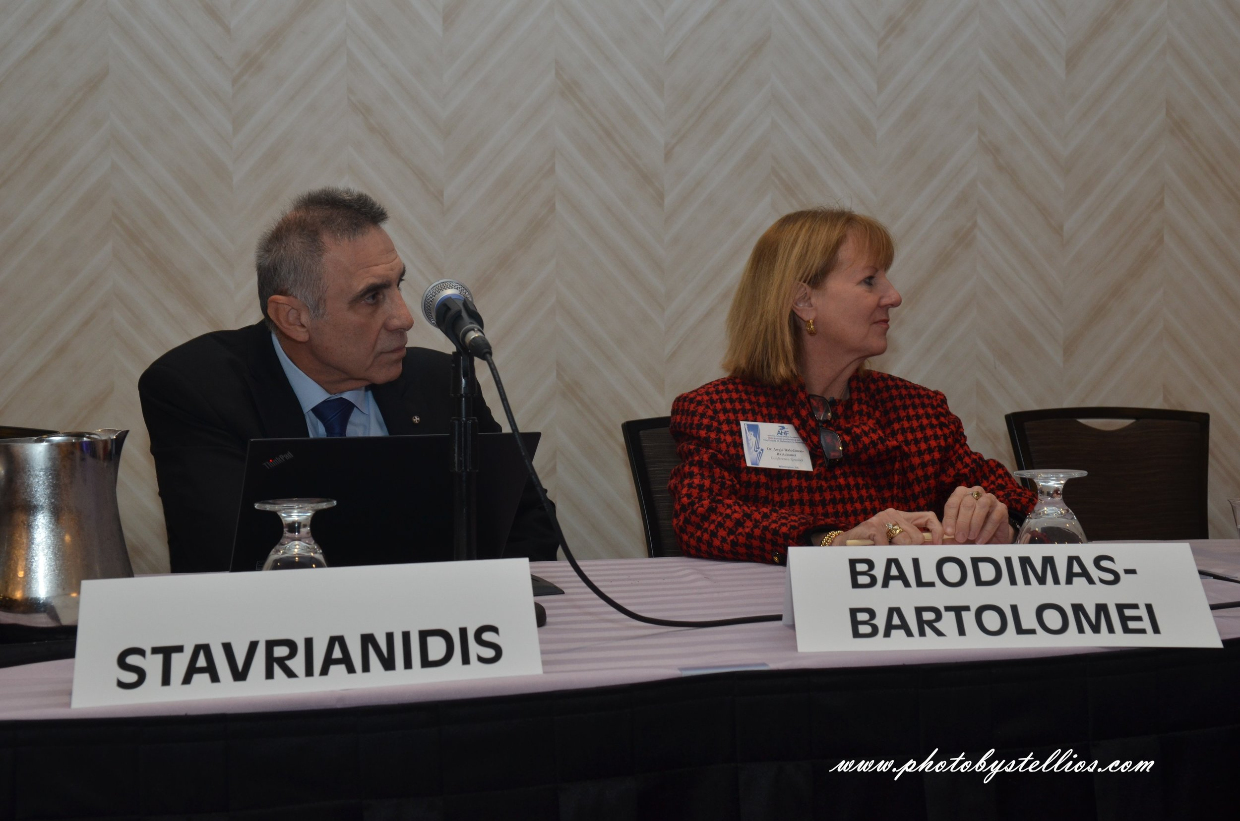 Dr. Panos Stavrianidis, Dr. Angelyn Balodimas-Bartolomei.