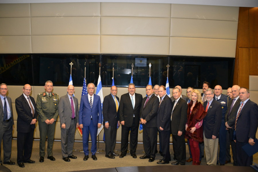 Delegation with Greek Defense Minister Kammenos.
