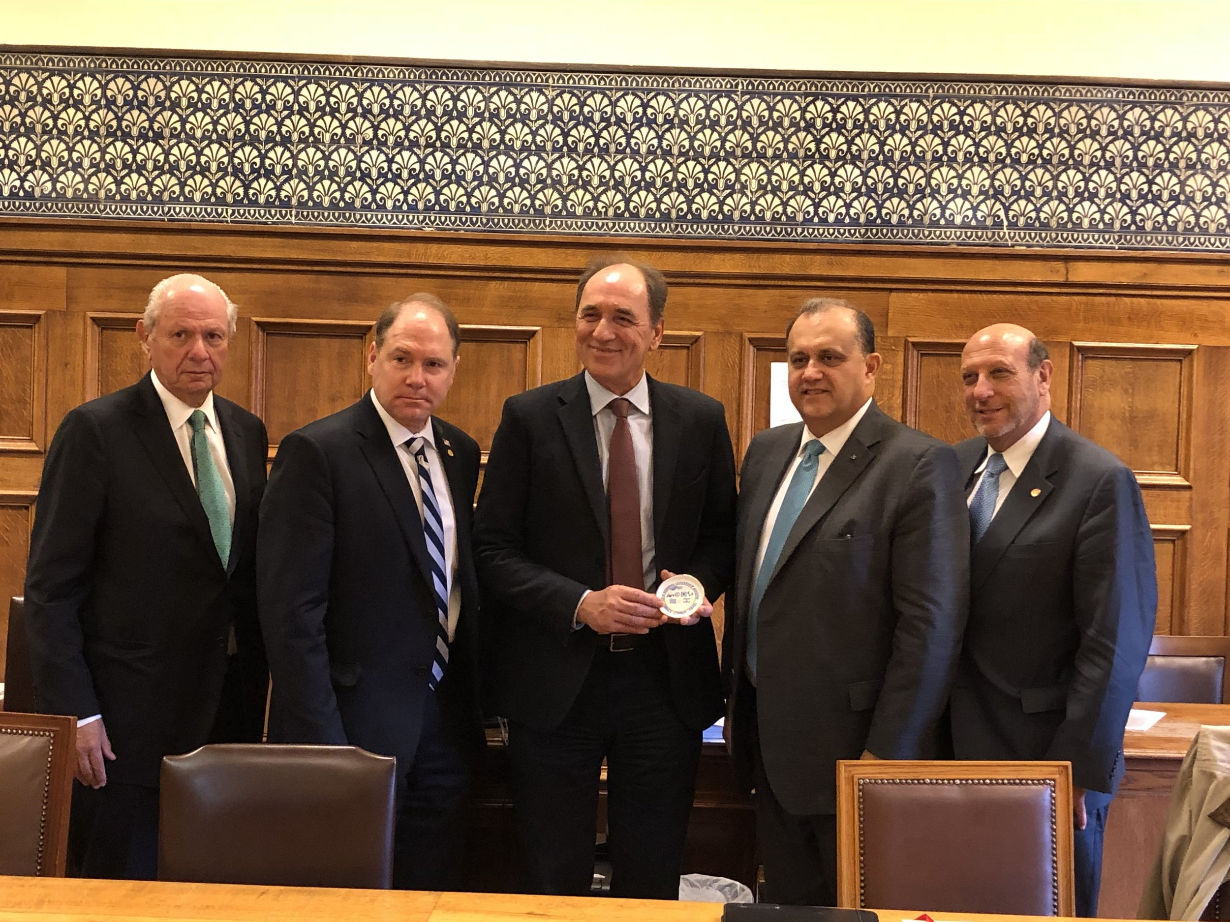 Delegation heads with Minister George Stathakis, Greek Minister of Energy & Environment.