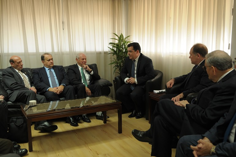 Delegation heads with Cypriot Defense Minister Dr. Christoforos Fokaides (third from the right).